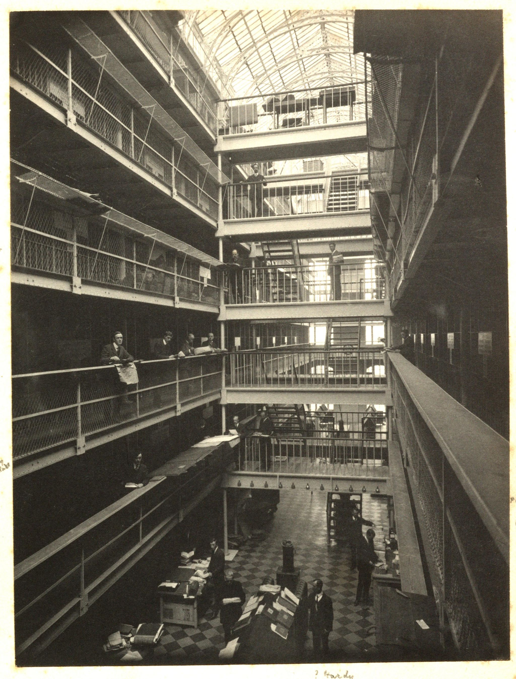 Inside Public Record Office Ireland before it was destroyed