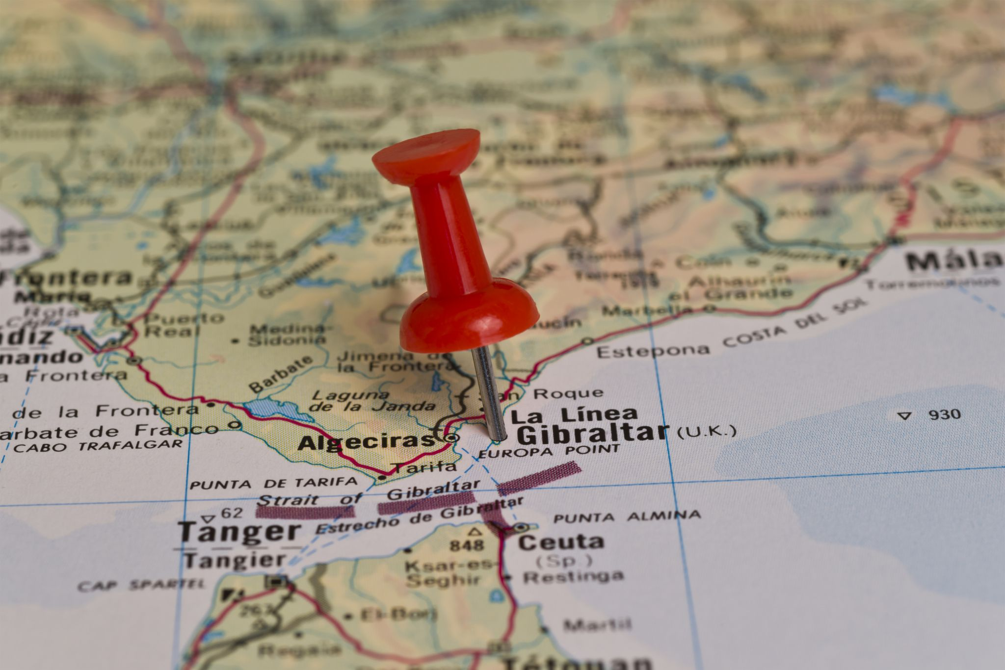 A map of Gibraltar