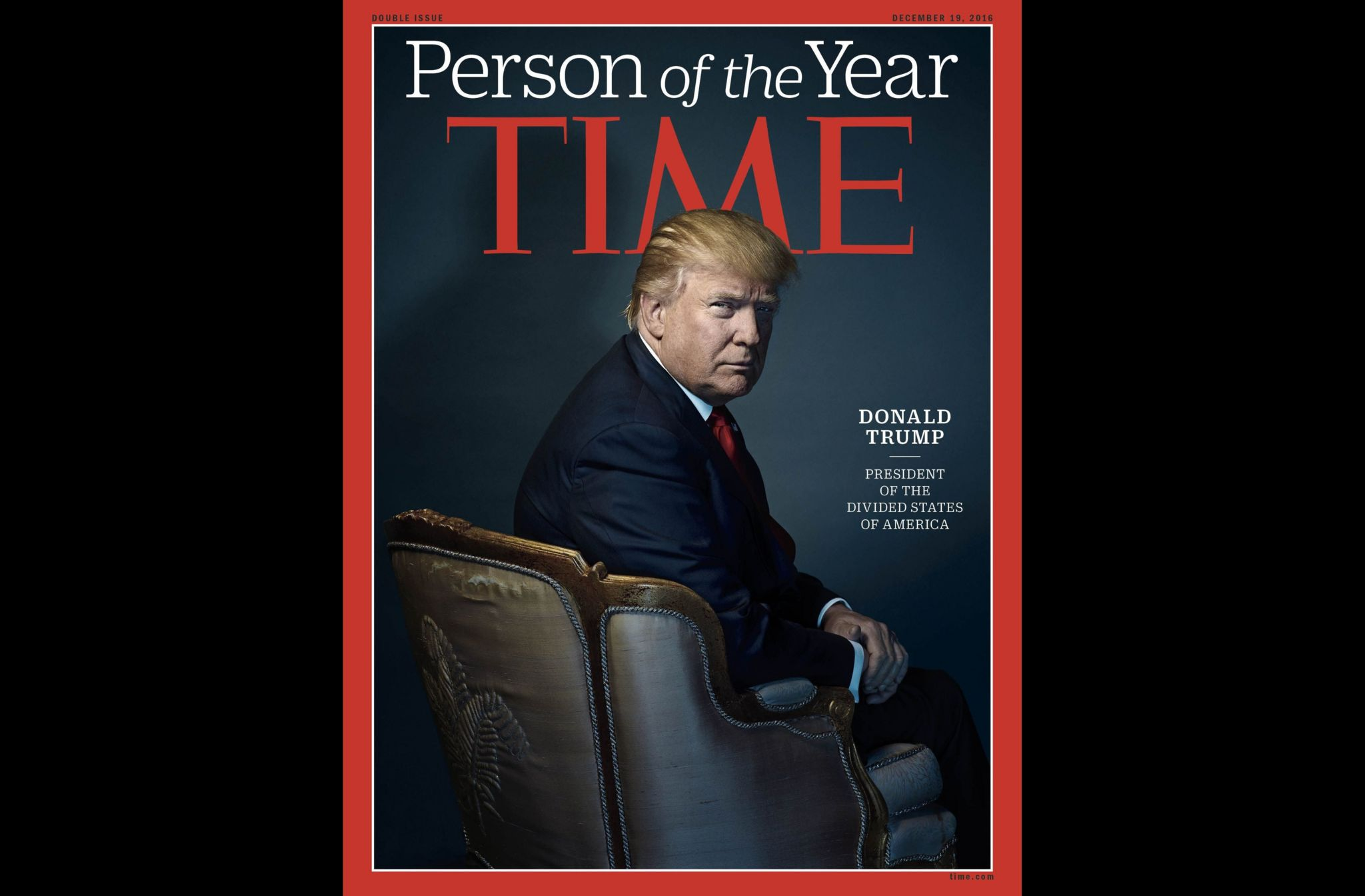 Donald Trump on the front of Time Magazine