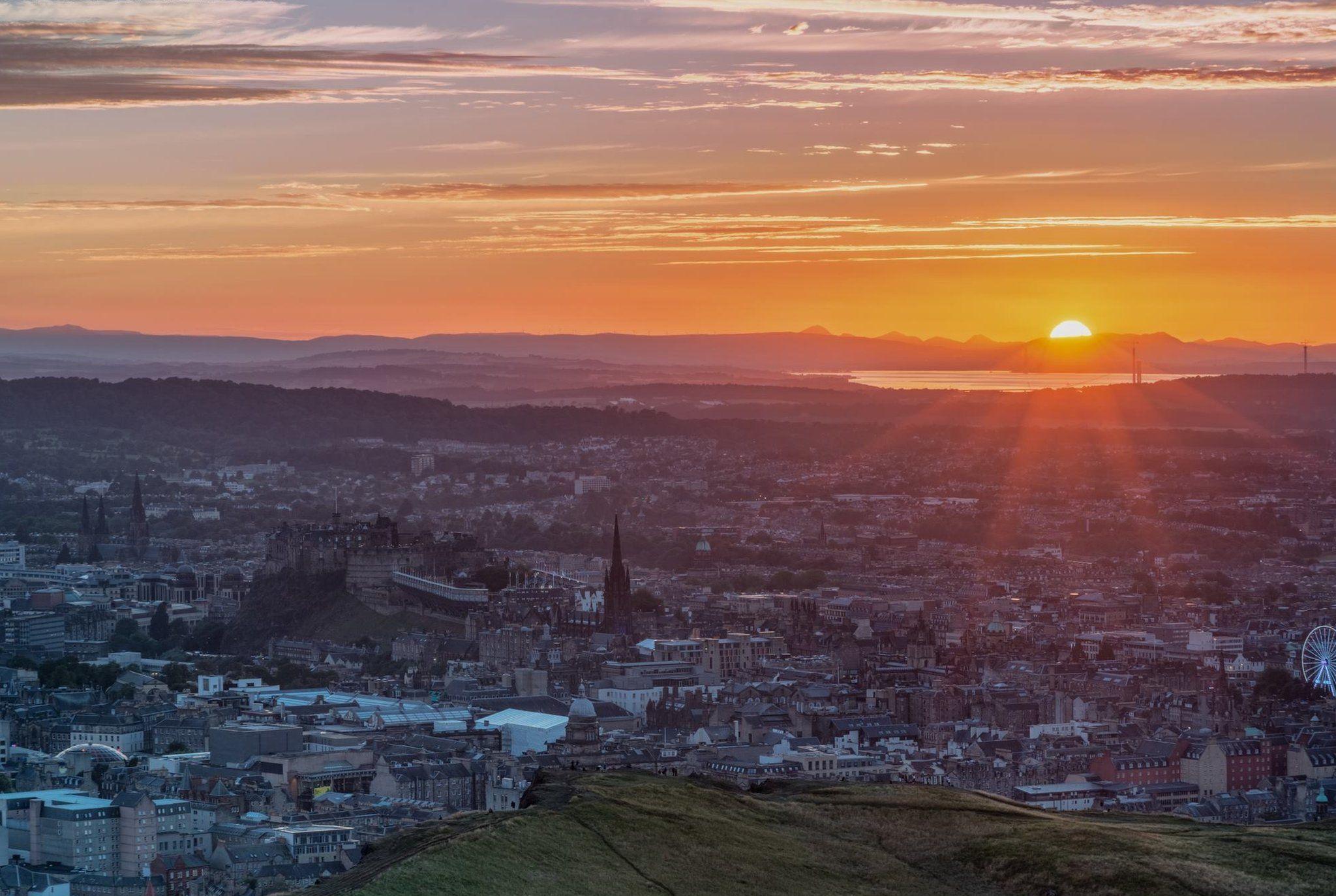 Sunset over Edinburgh