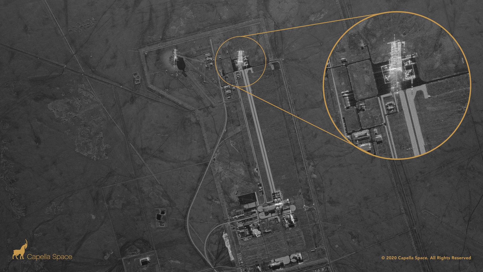 The launch towers are visible in this image of China's Jiuquan spaceport
