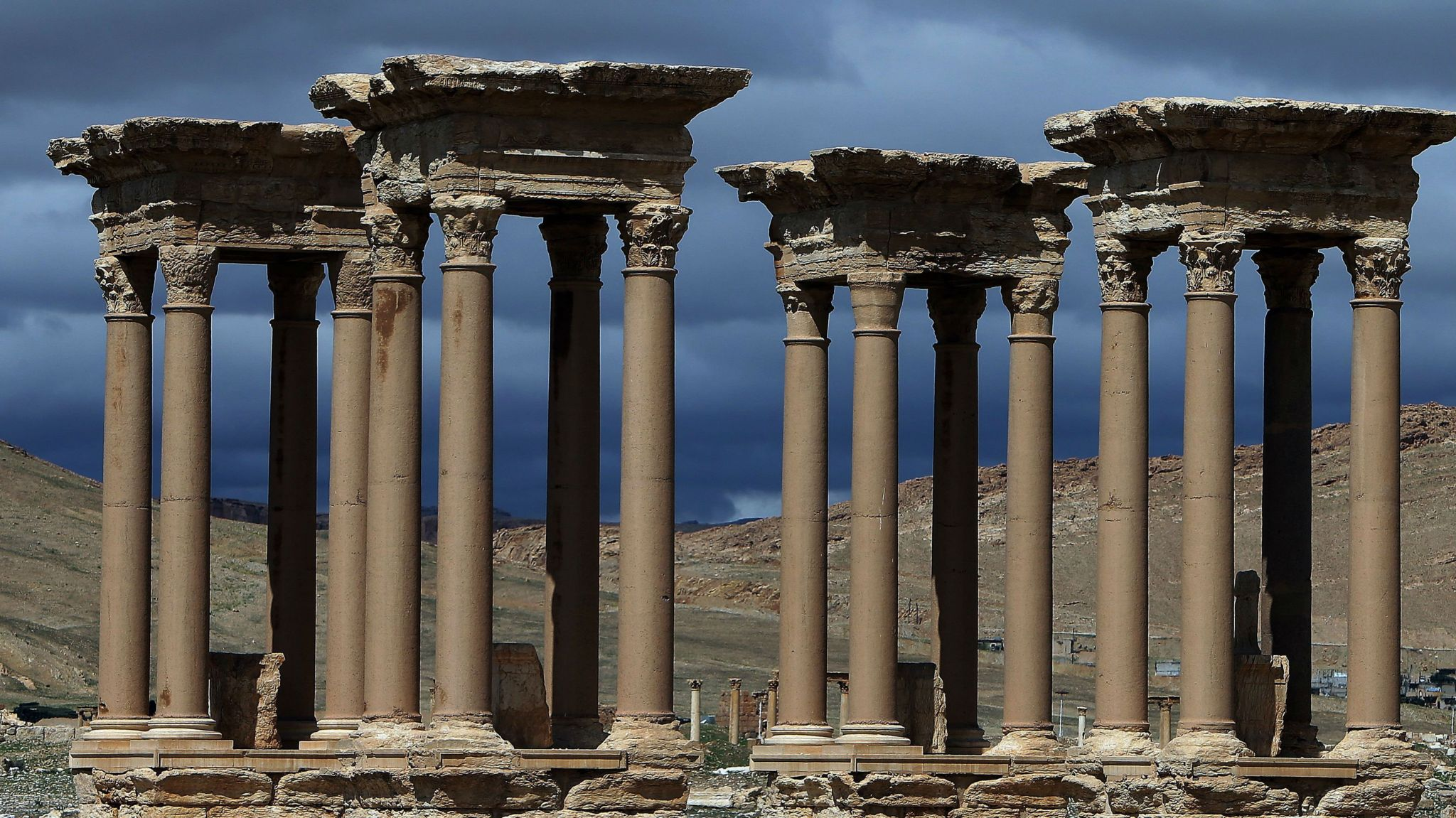The Tetrapylon at Palmyra before IS occupation