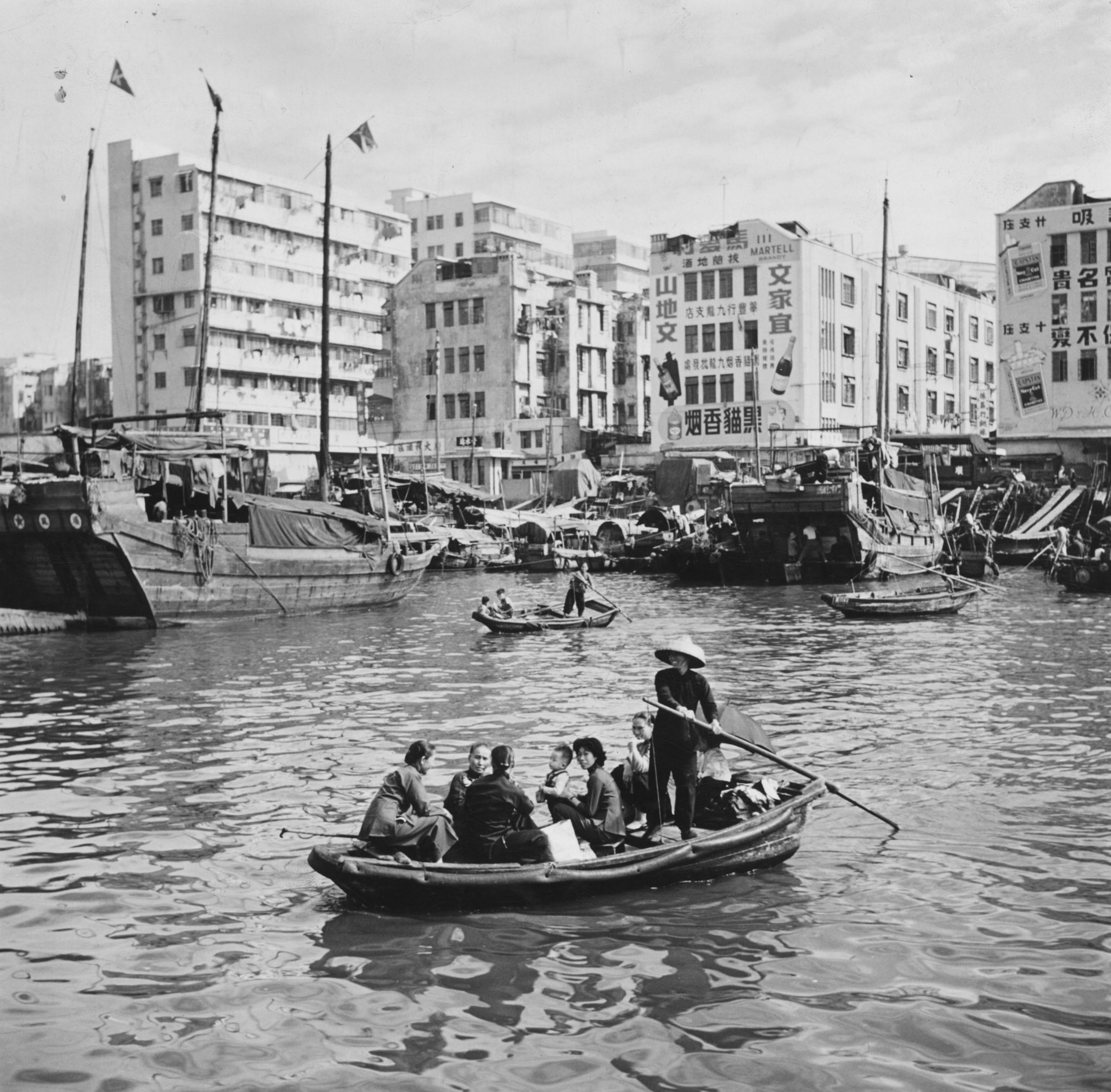 Hong Kong waterfront in the 1950s
