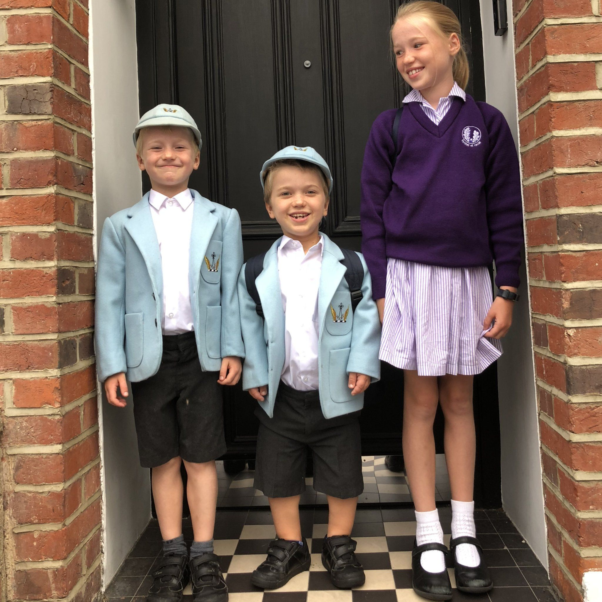 Sam with his brother and sister