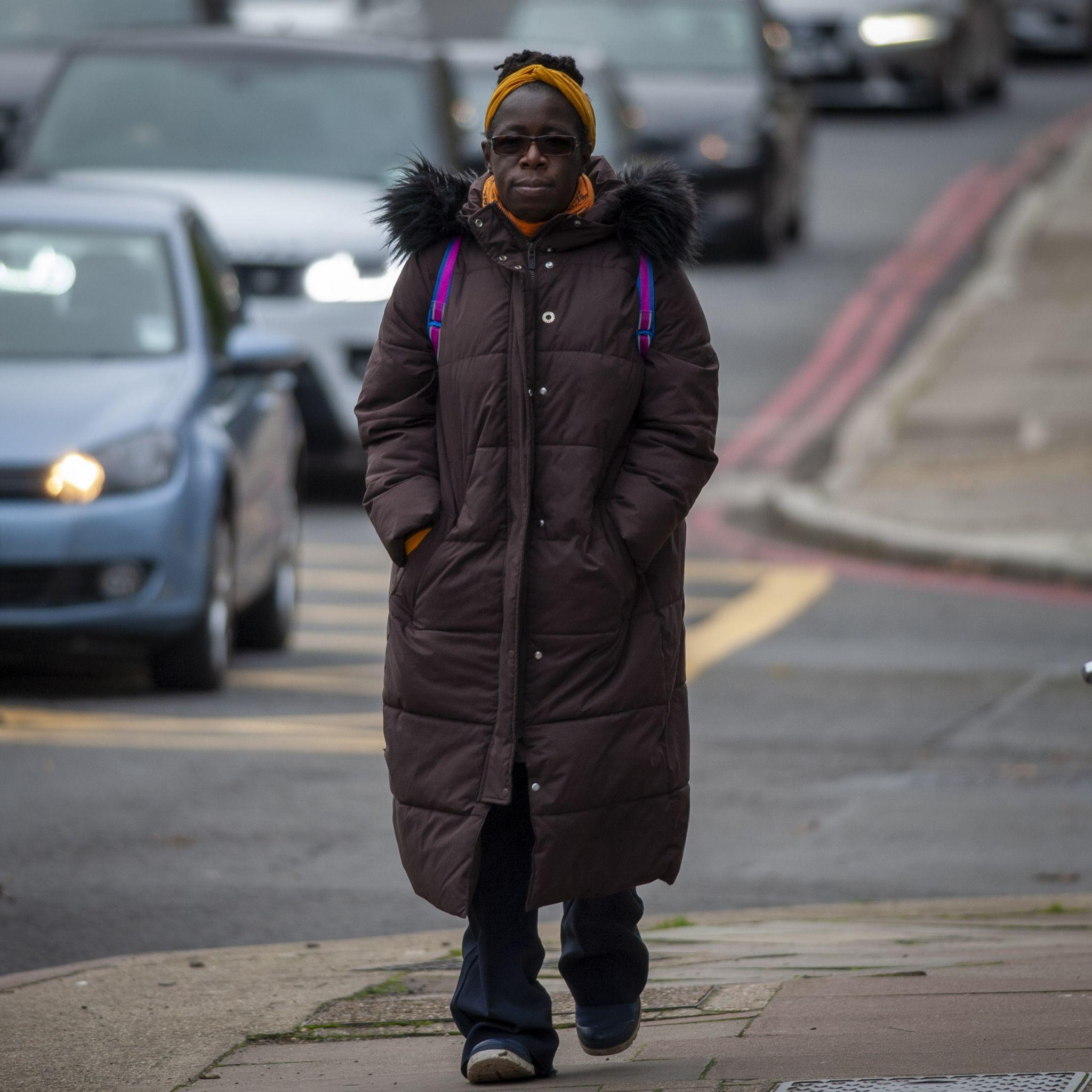 Rosamund Adoo-Kissi-Debrah walking along the South Circular