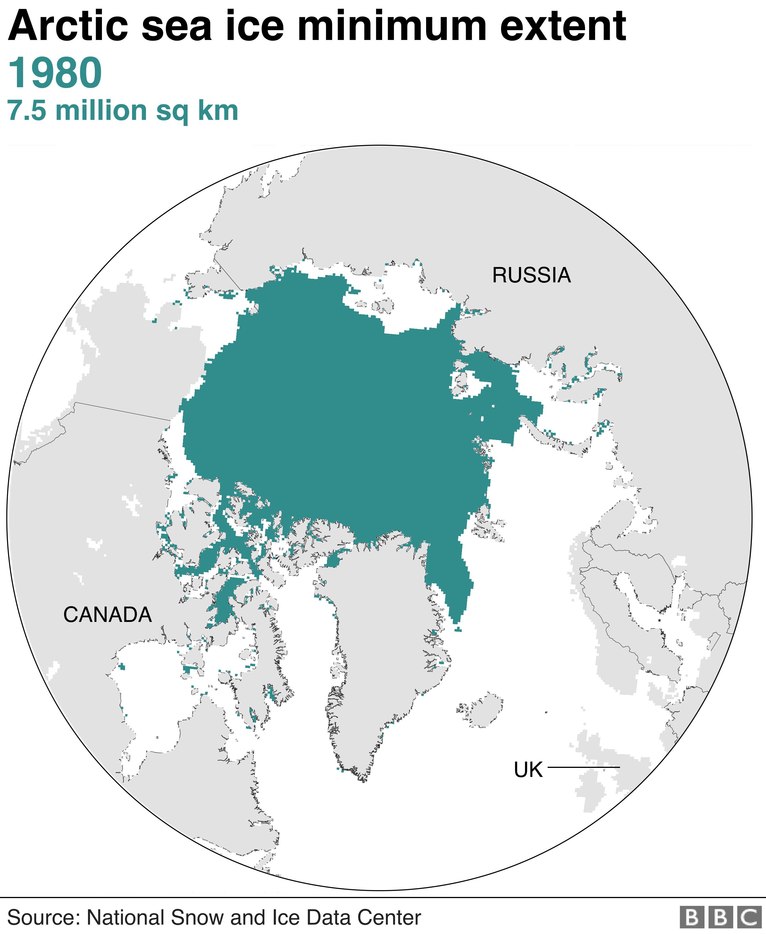 Arctic ice 1980