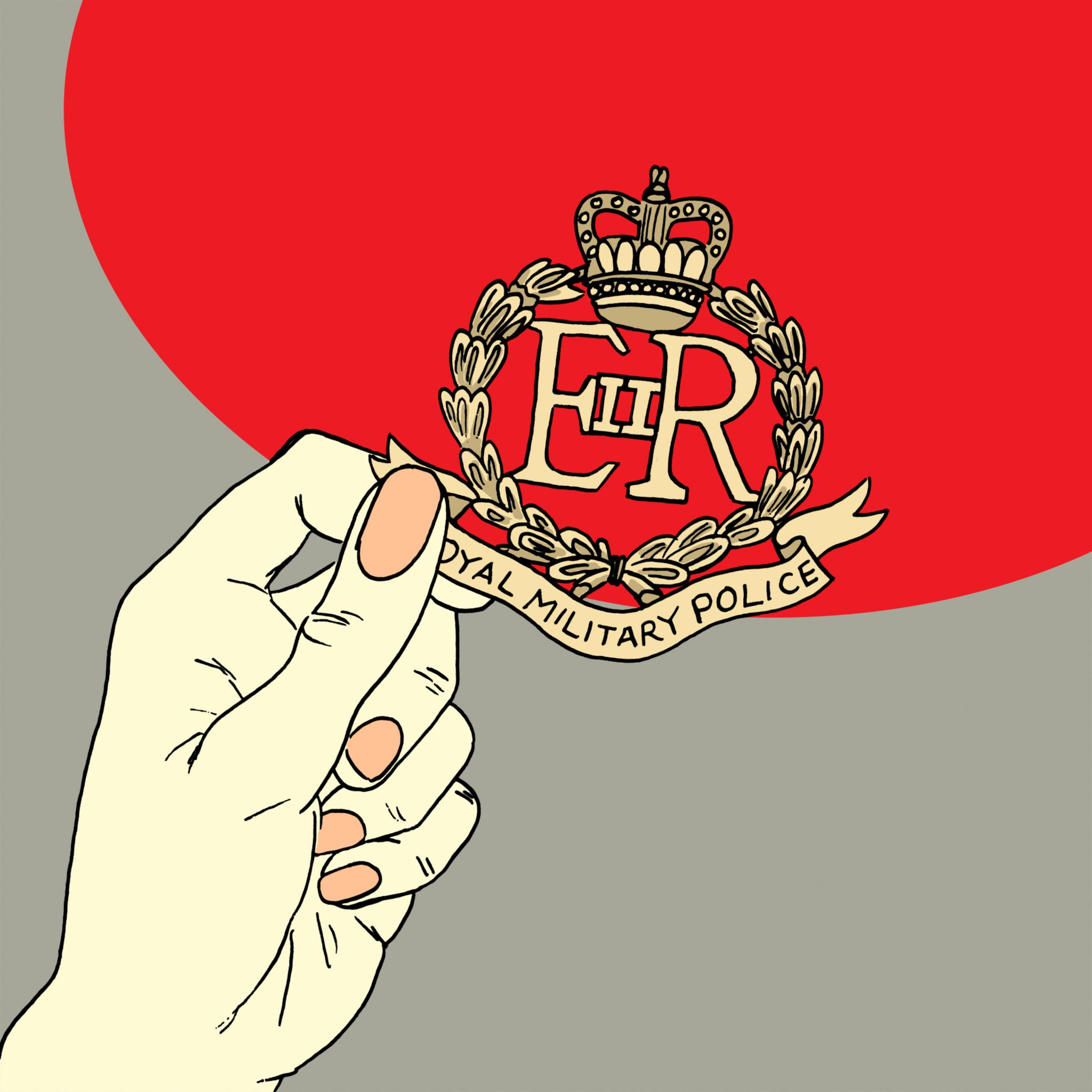 Military police badge