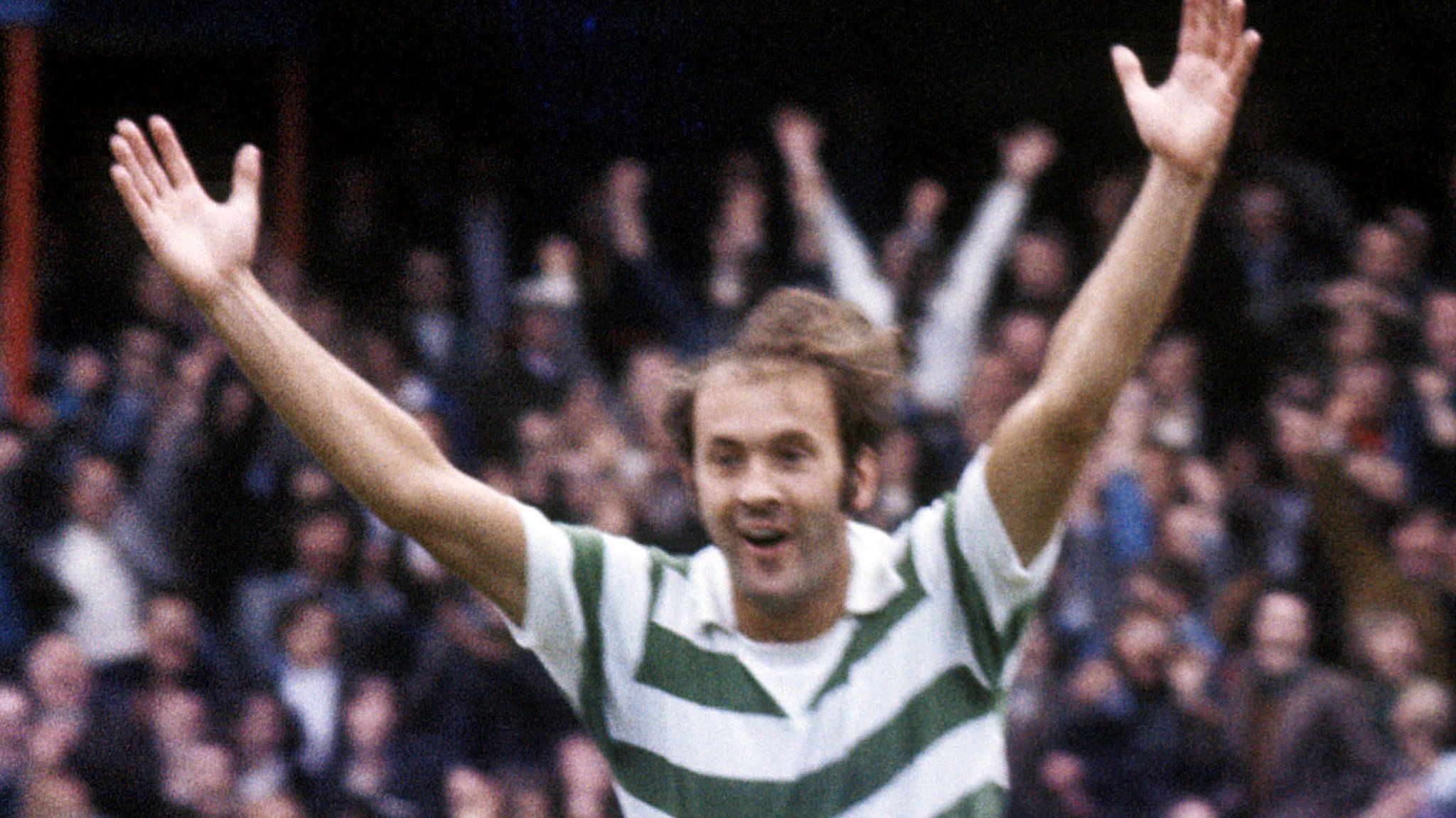 Harry Hood celebrates with Celtic