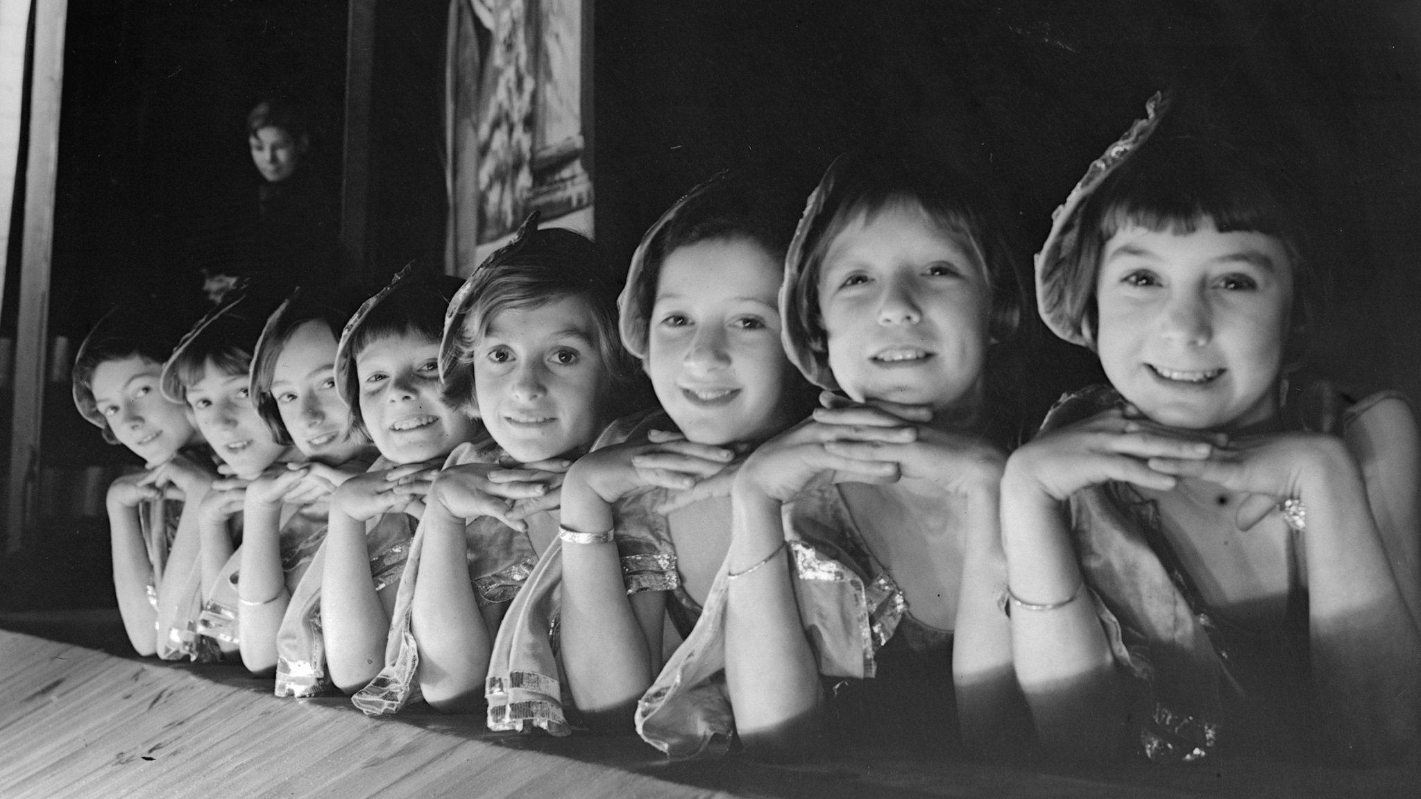 Children performing in pantomime