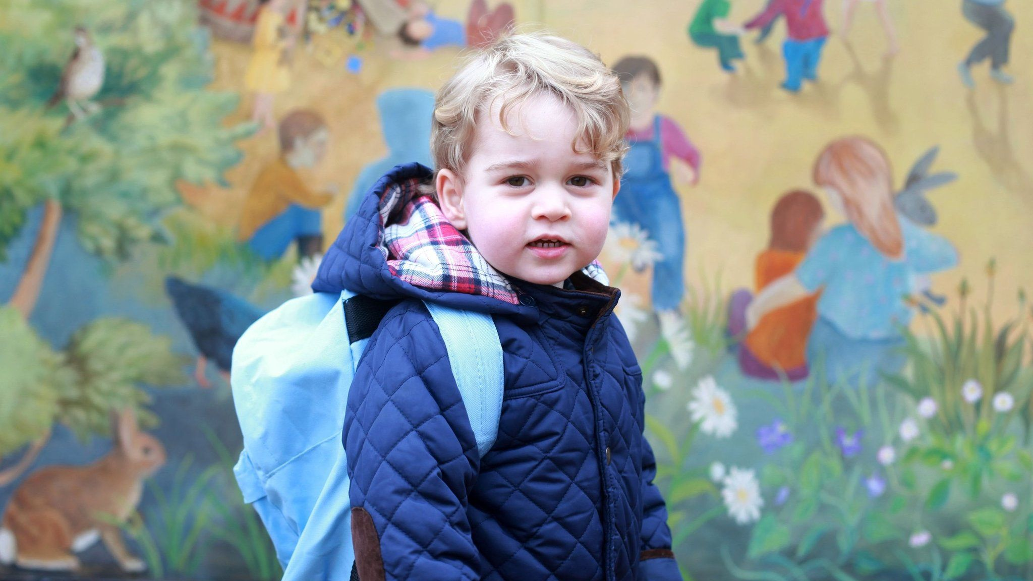 Prince George seen on his first day of nursery in 2016