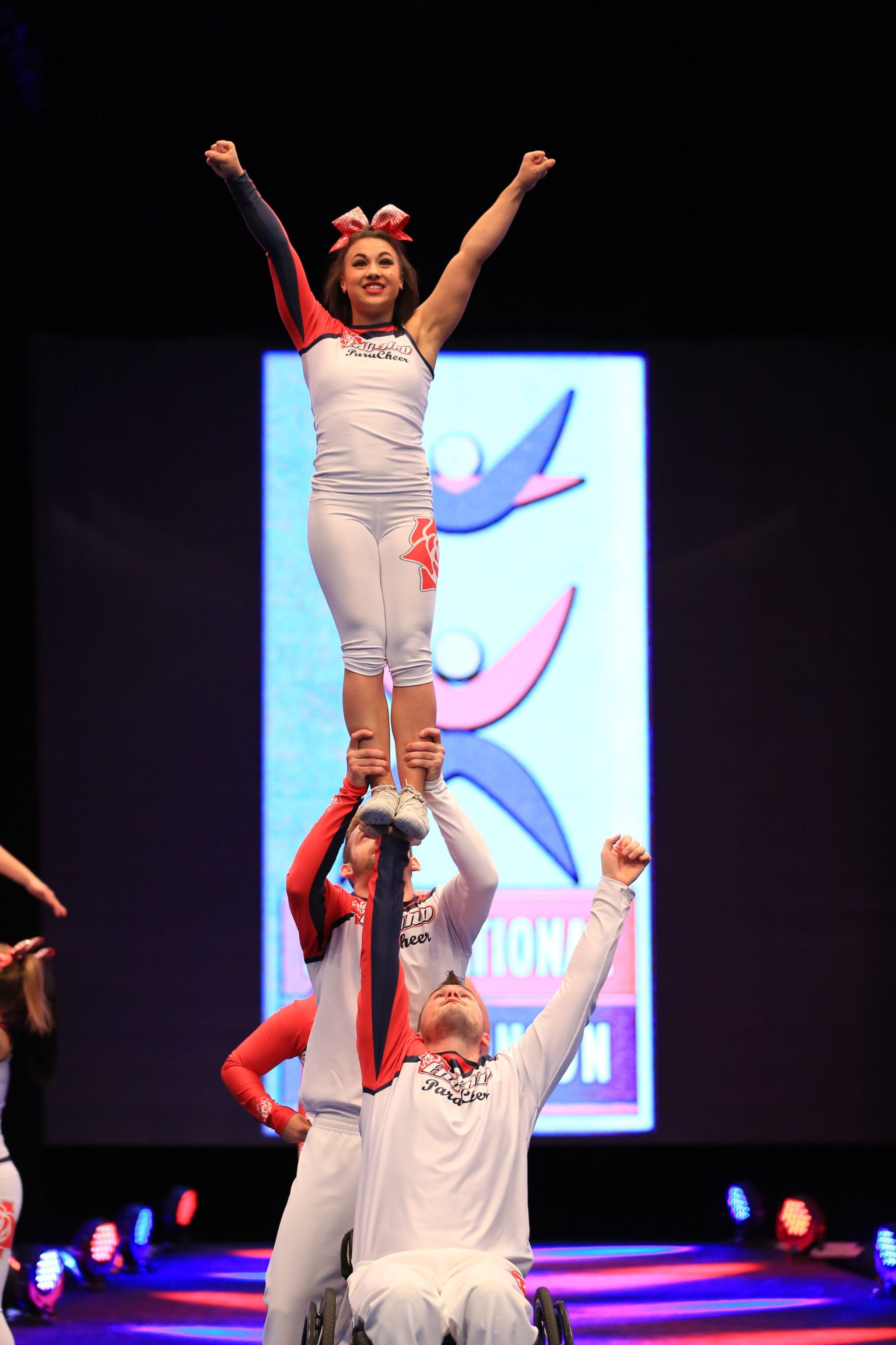 Rick performing with Team England ParaCheer