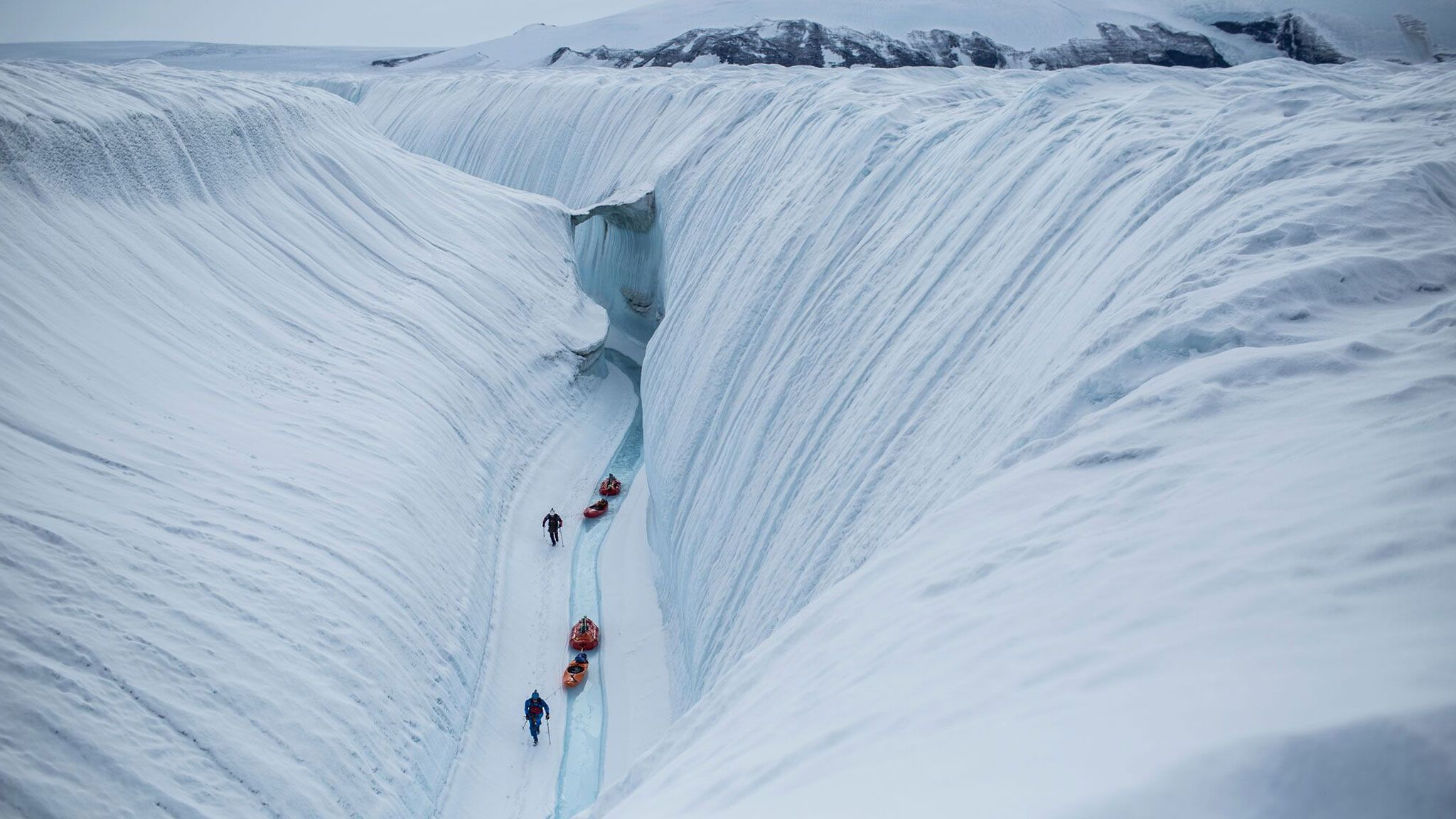 Still from Into Twin Galaxies - A Greenland Epic