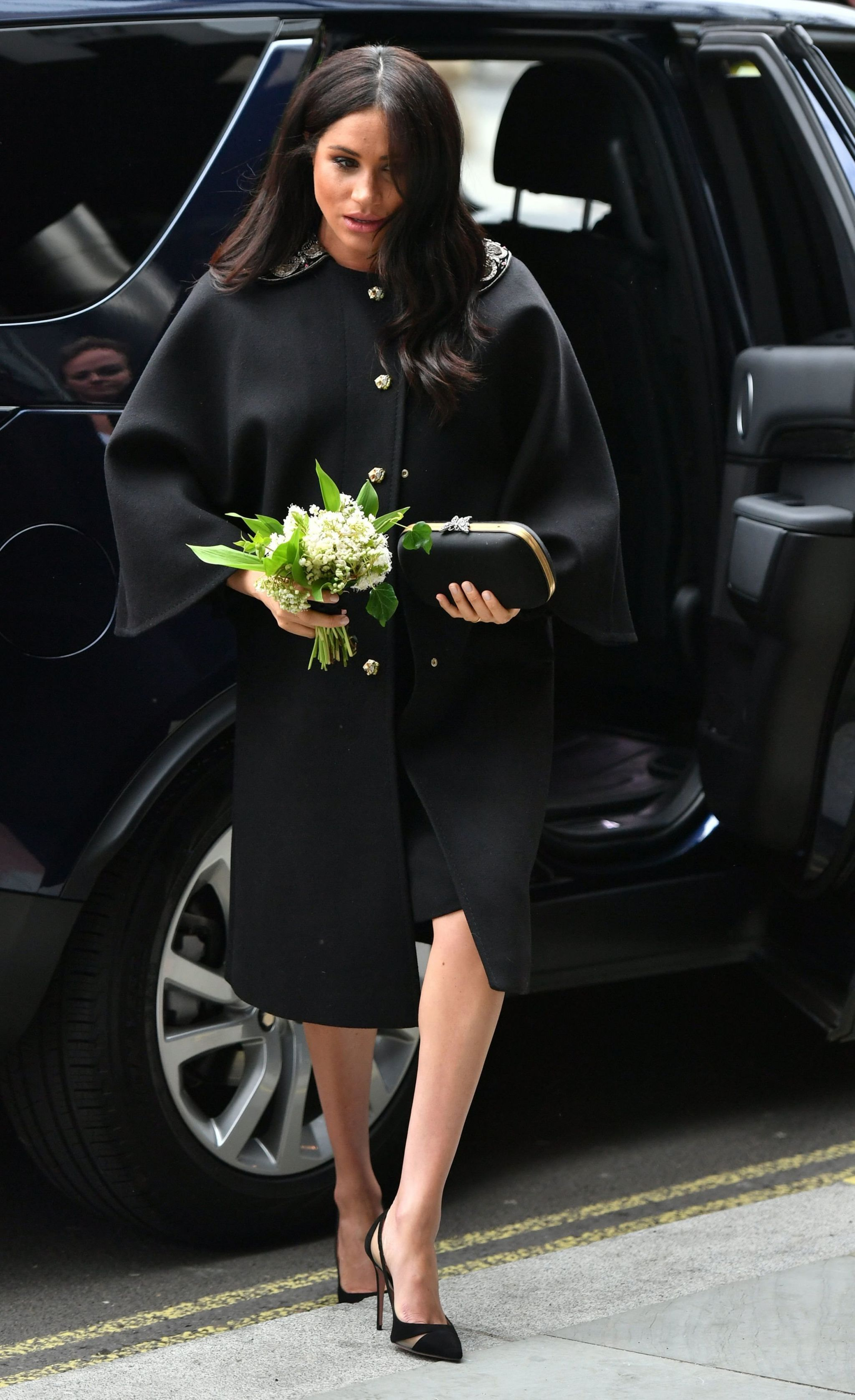 The Duchess of Sussex arrives at the High Commission