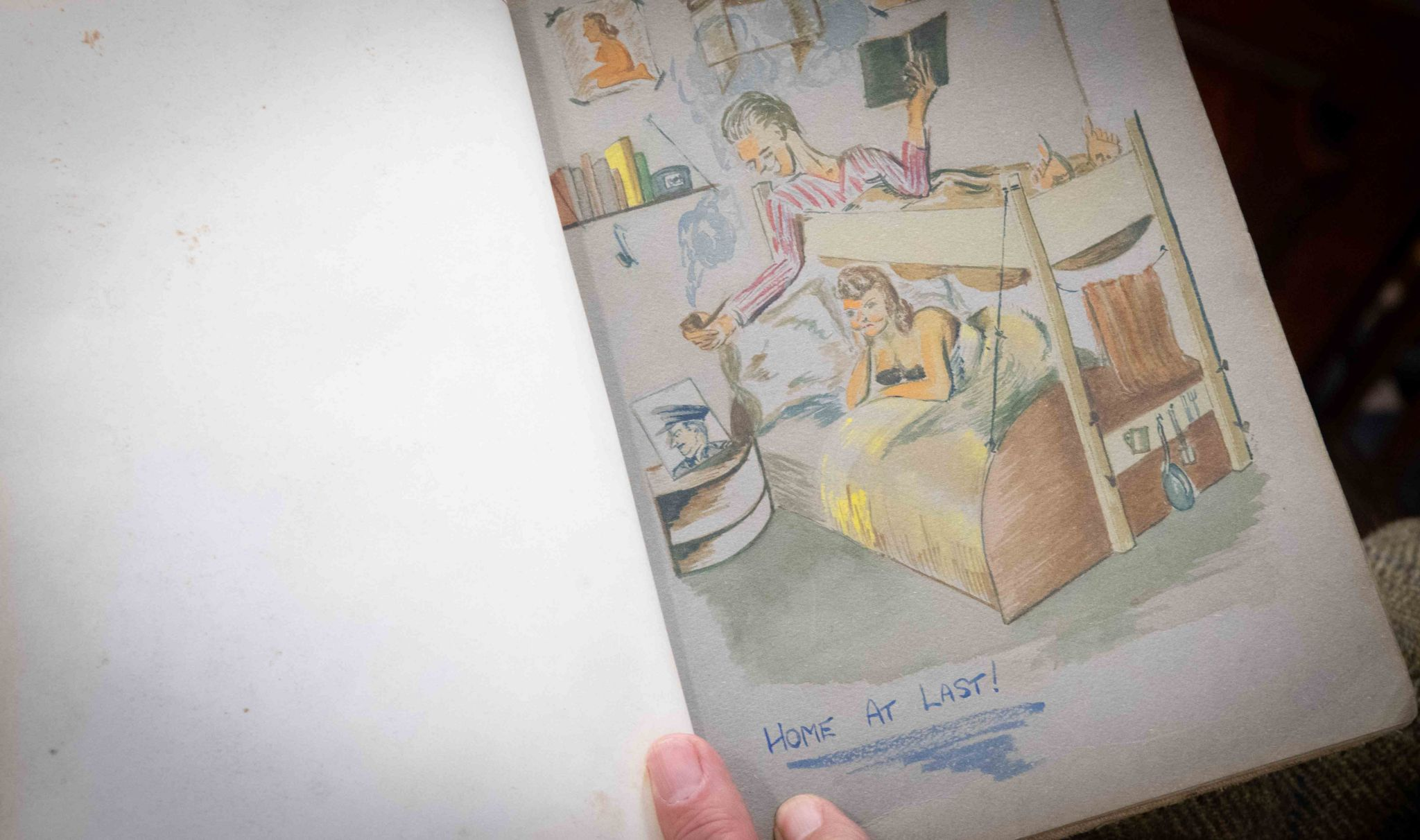 A drawing in the journal