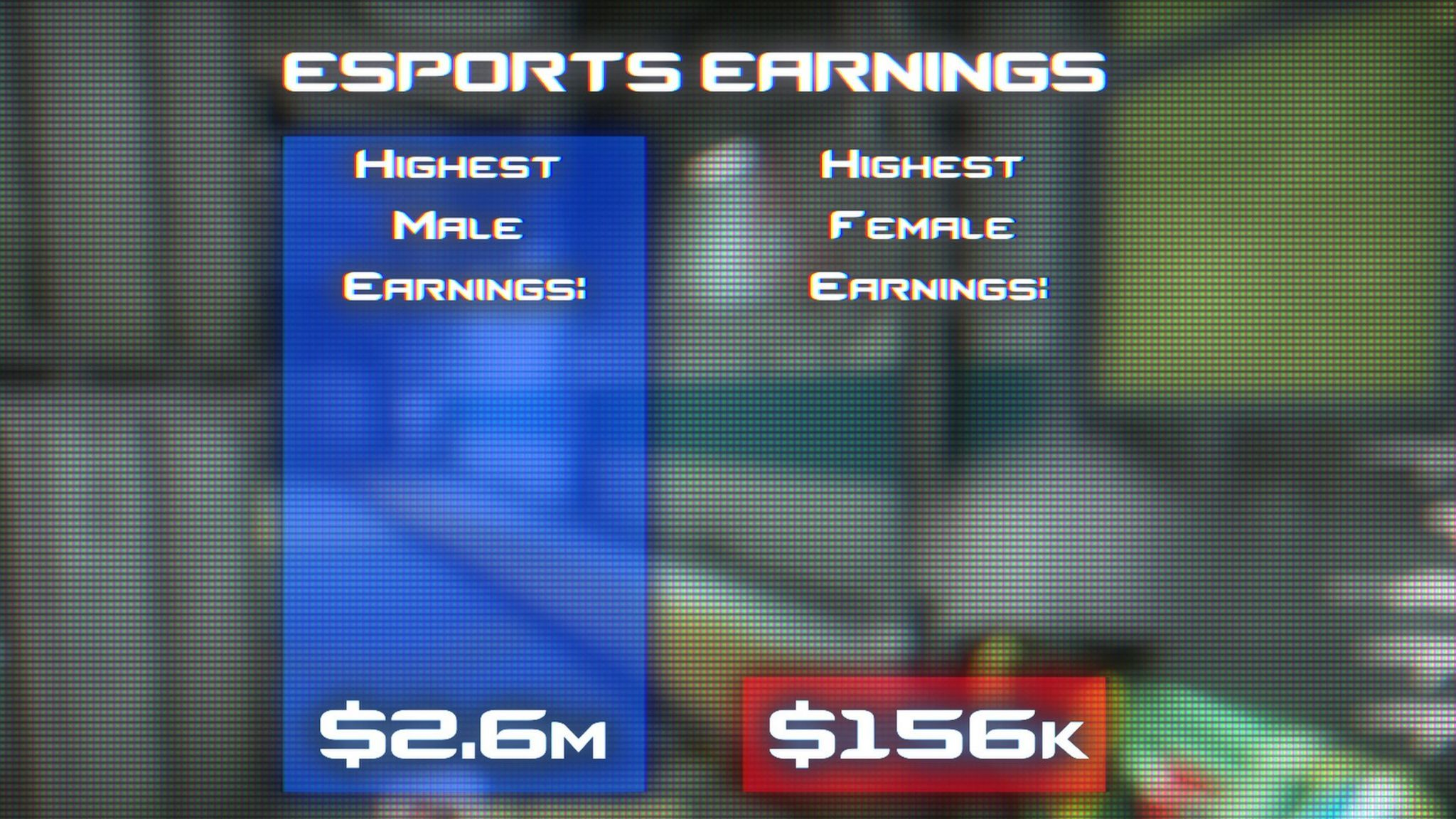 The difference in earnings for male and female players
