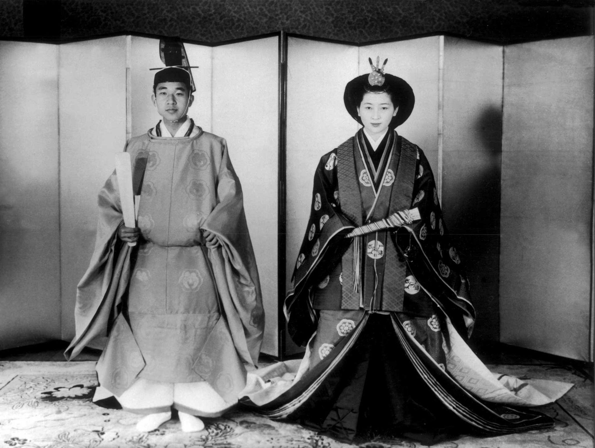 Wedding of Prince Akihito and Princess Michiko, 1959.