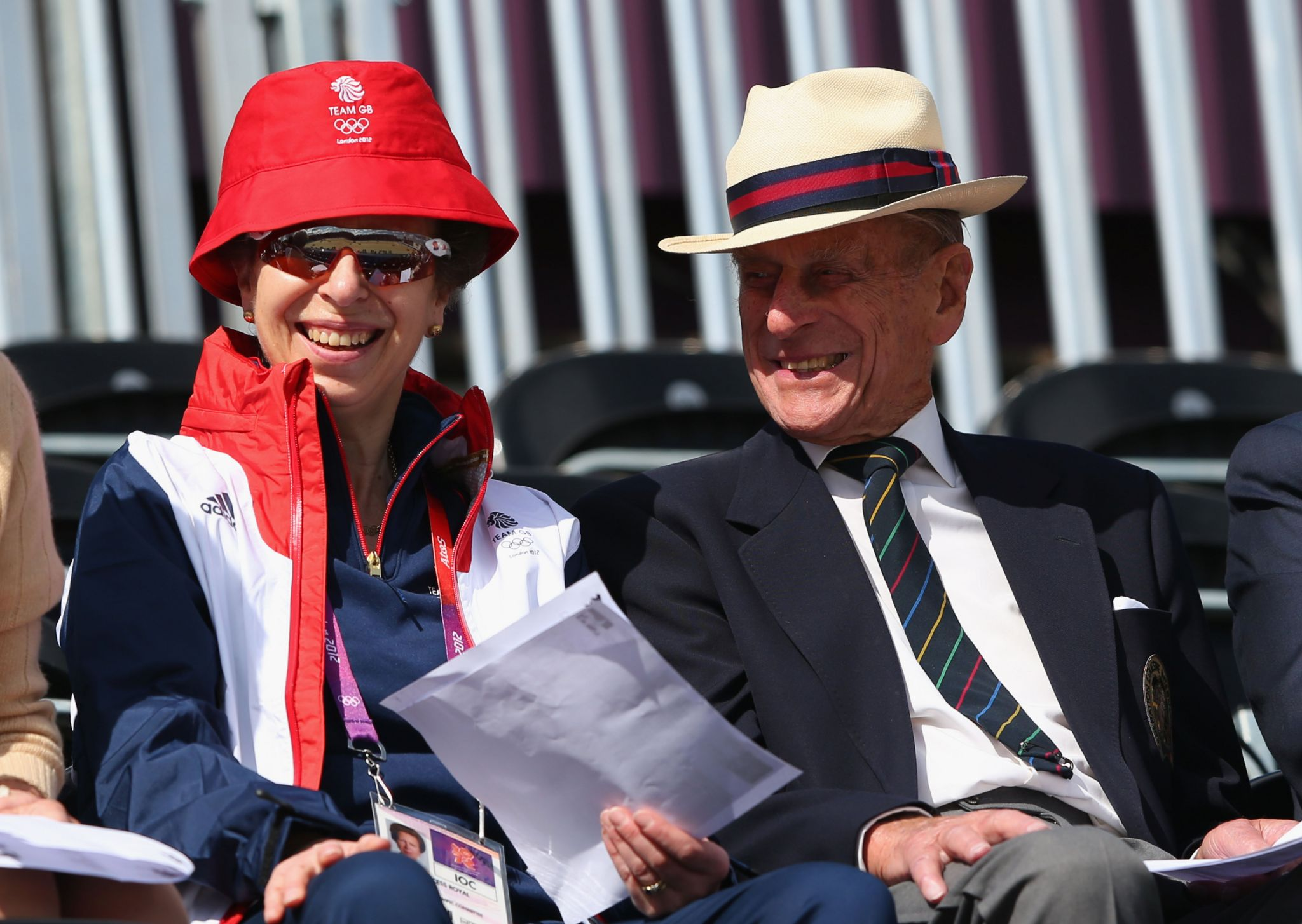 Princess Anne and the Duke of Edinburgh at the London 2012 Olympic Games