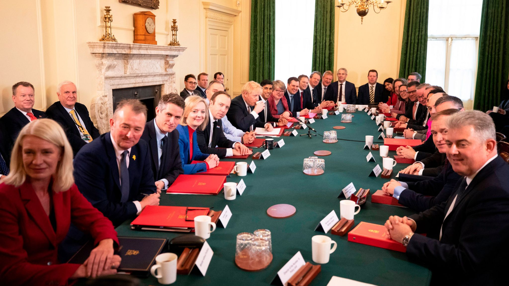 Boris Johnson's first cabinet meeting, February 2020