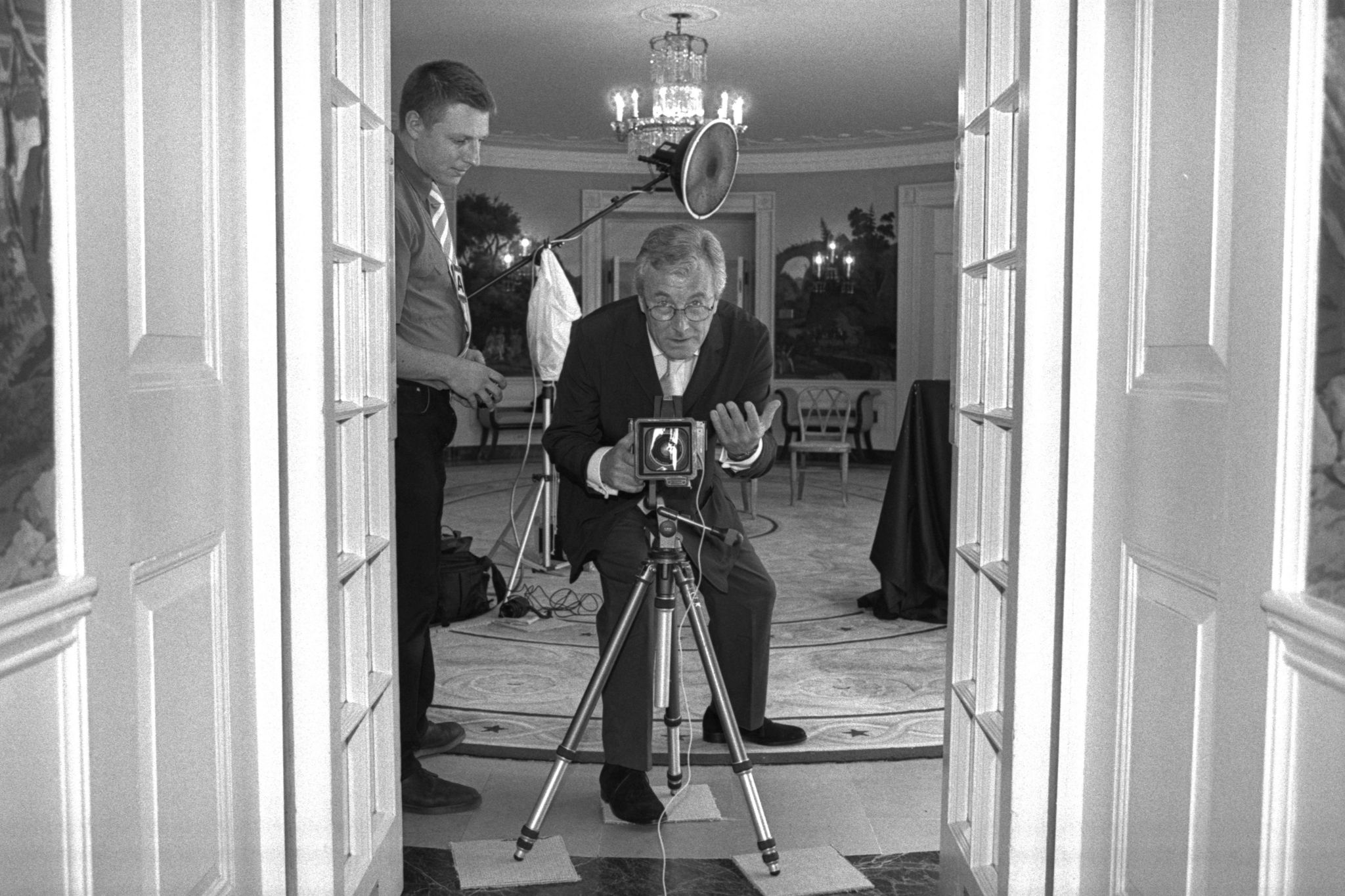 "Terry O""Neill photographs Laura Bush at the White House in 2001"