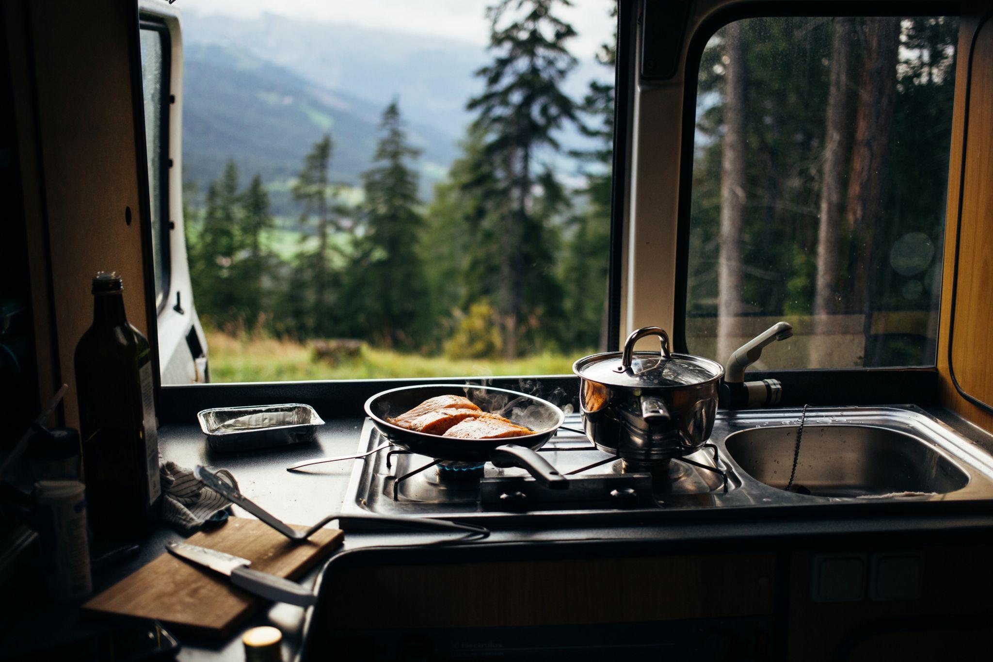 Hobs in a campervan