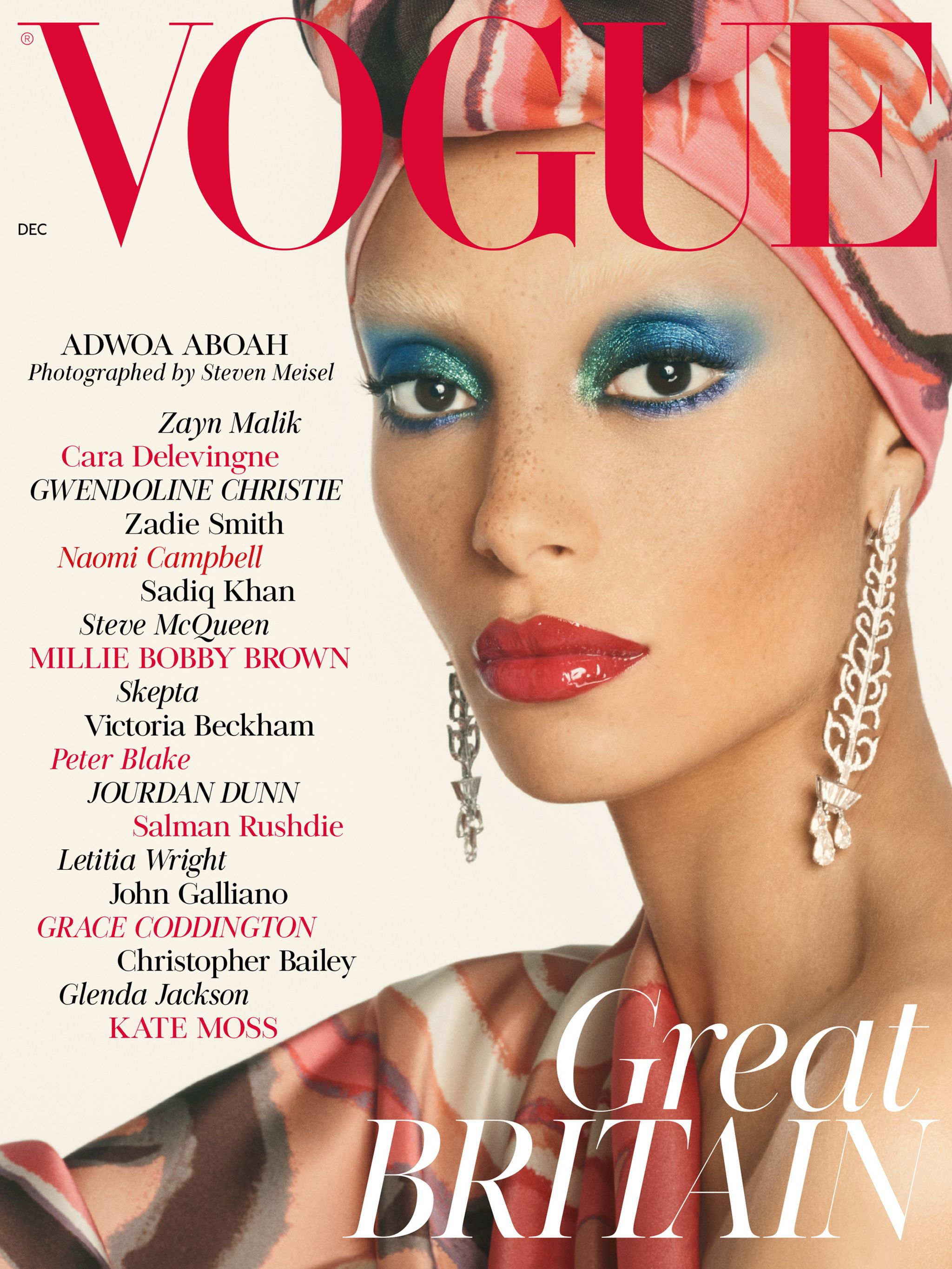 Front cover of British Vogue December 2017