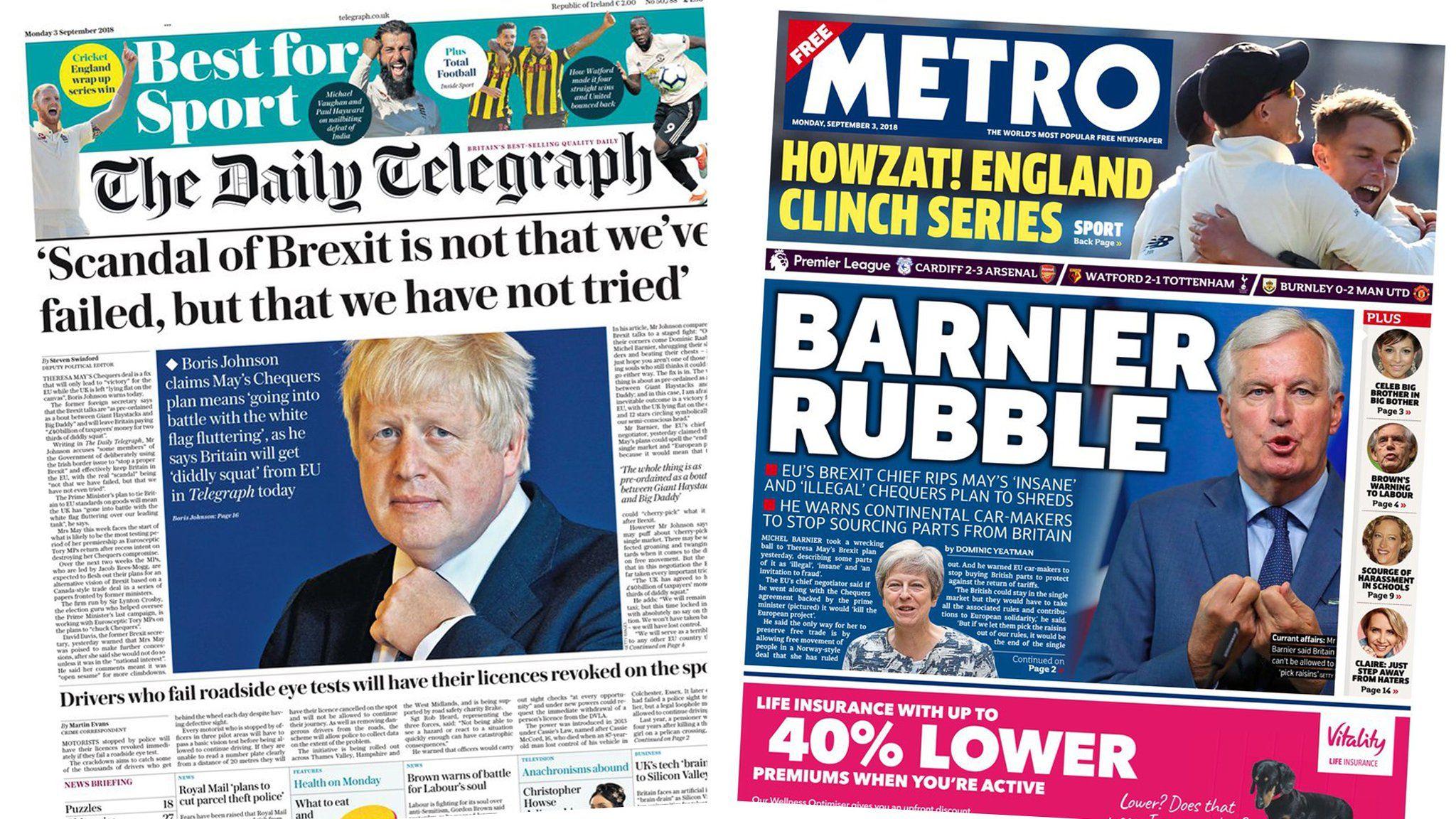 Telegraph and Metro