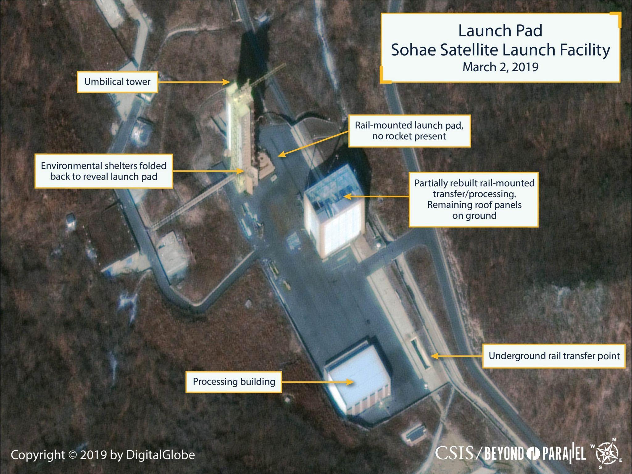 Satellite image of launch site