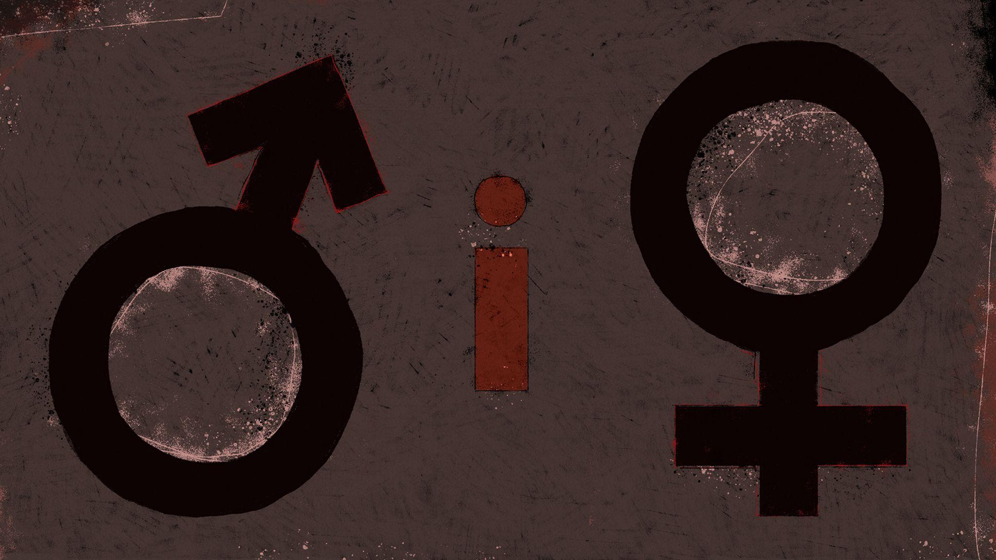 Symbols - male, i marker and female