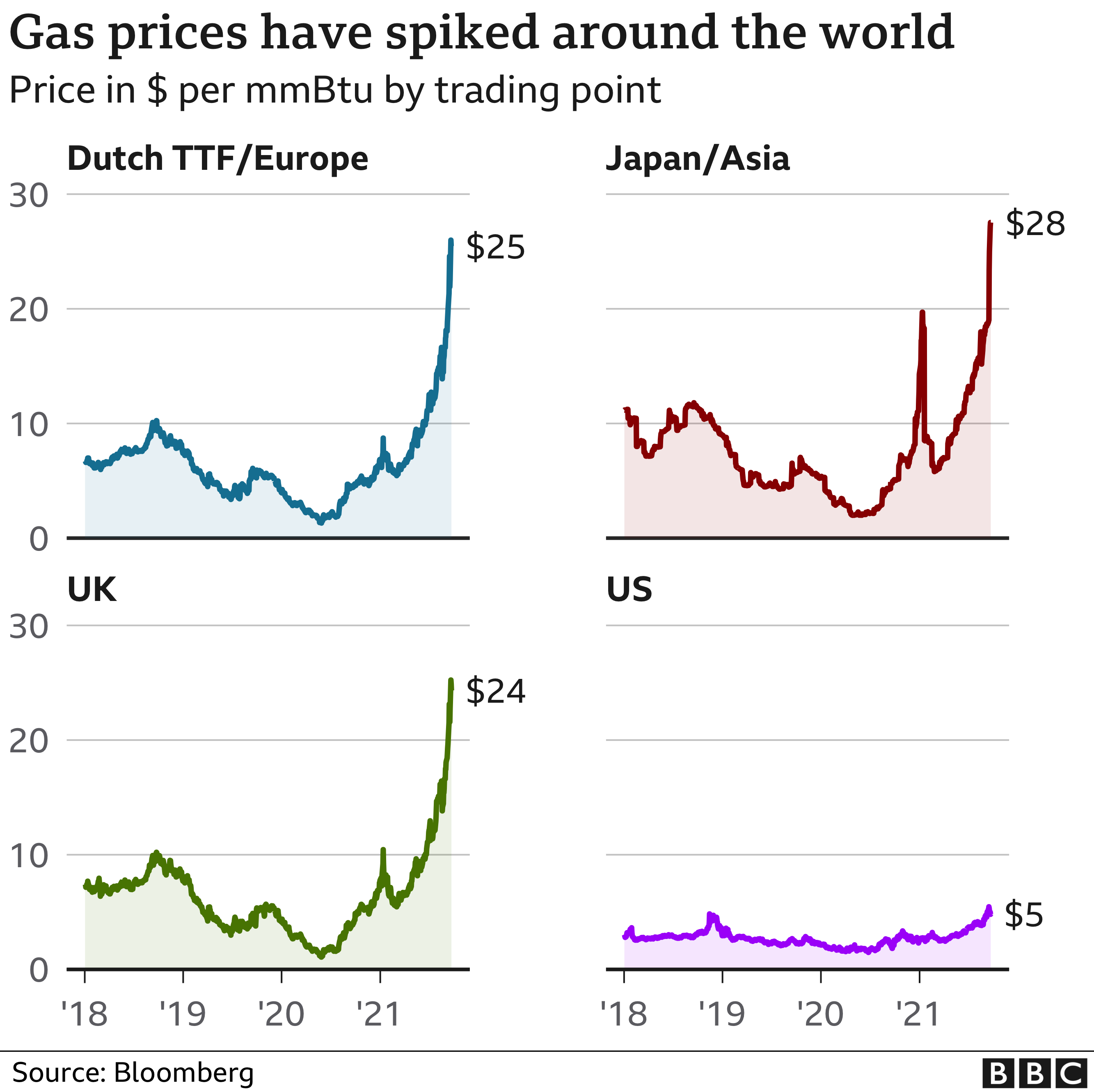 Gas prices around the world graphic