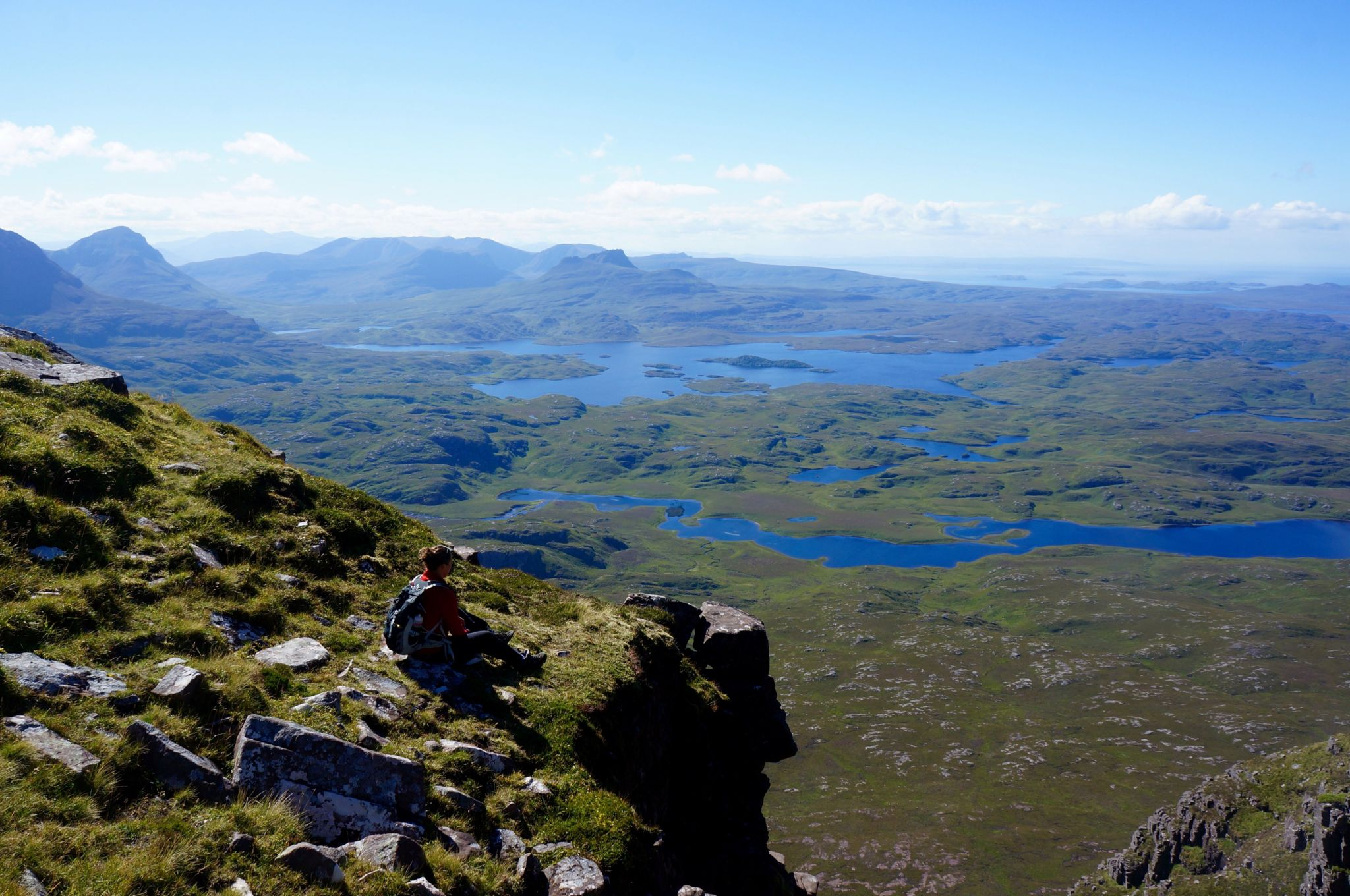 View from the top of Suilven looking South.