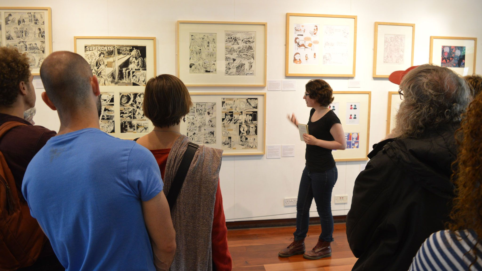 Louise Quirion gives a tour of the exhibition