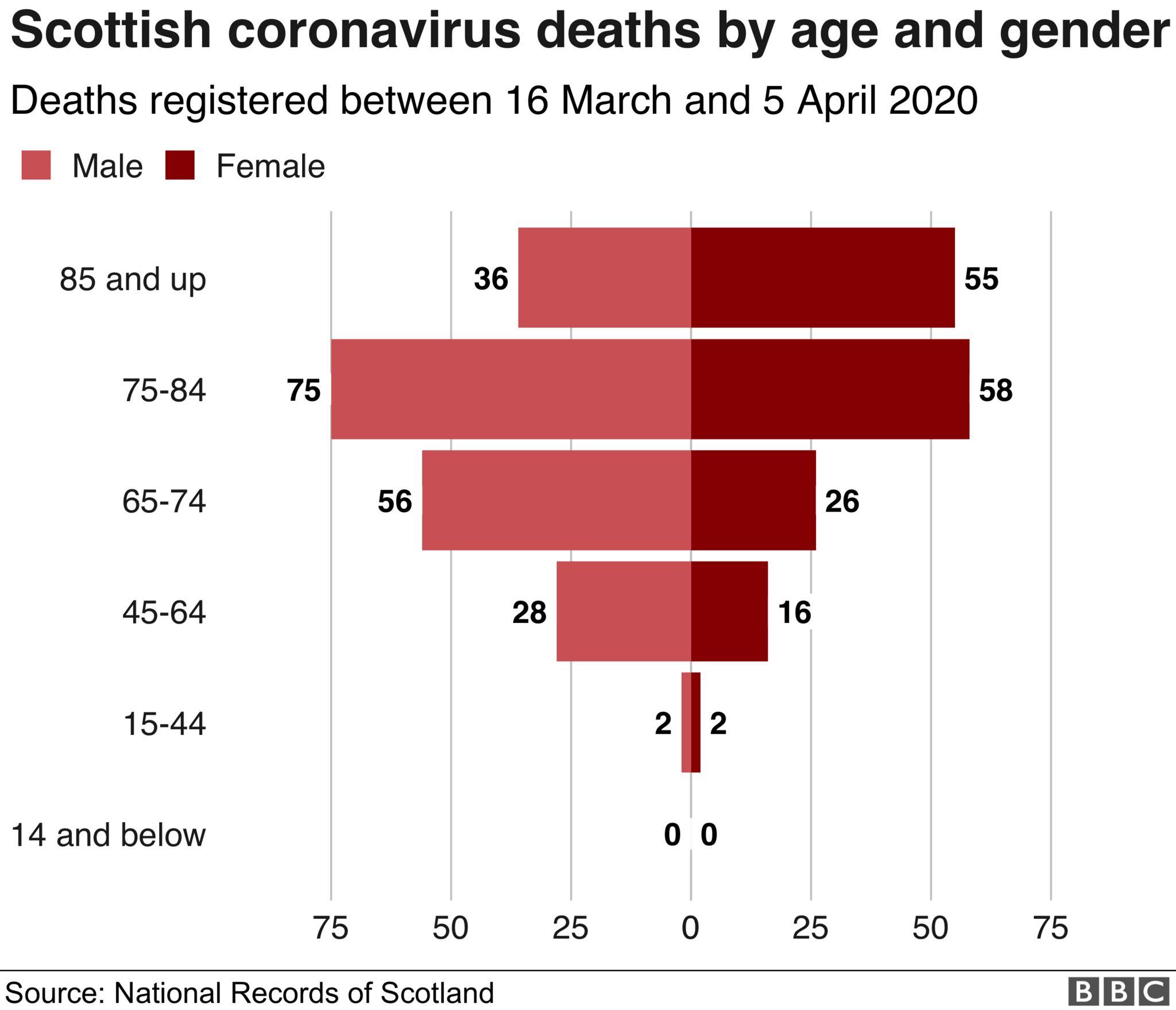 Age gender breakdown