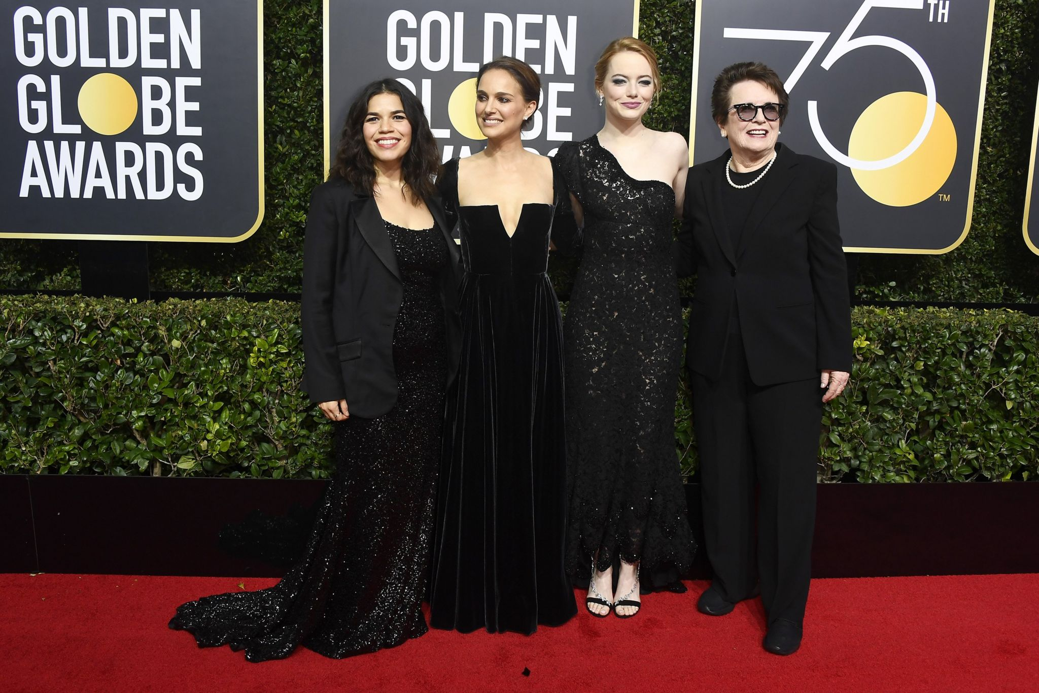 Stars wearing back on the red carpet at the 75th Golden Globe Awards