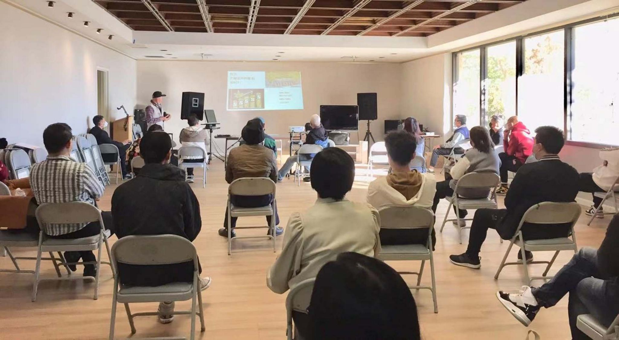 Irving Lin ran socially-distanced seminars during the pandemic
