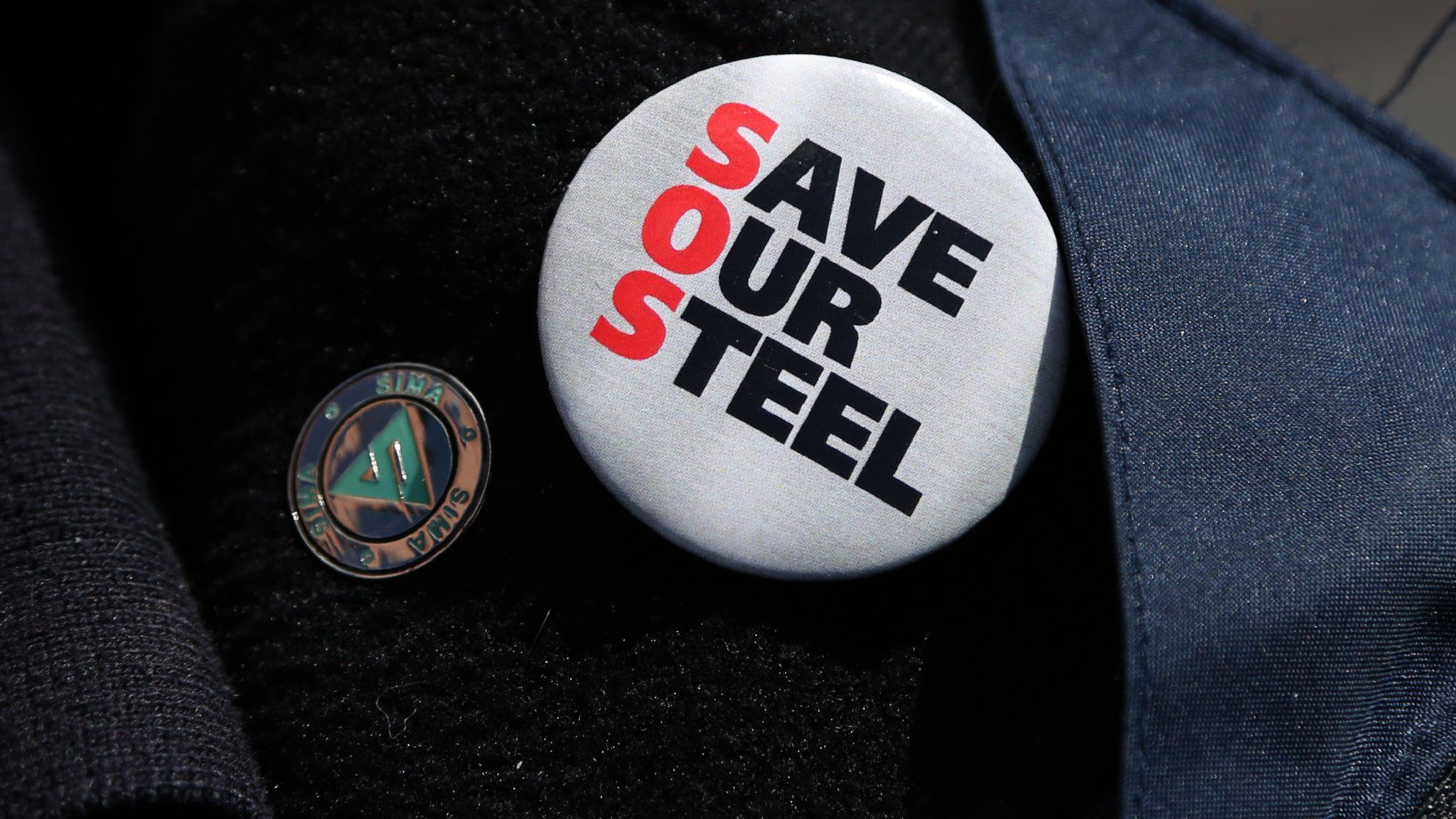 Save our Steel badge
