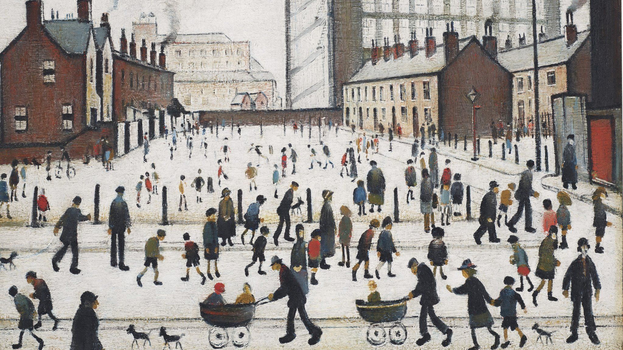 L S Lowry Print Going to the Match