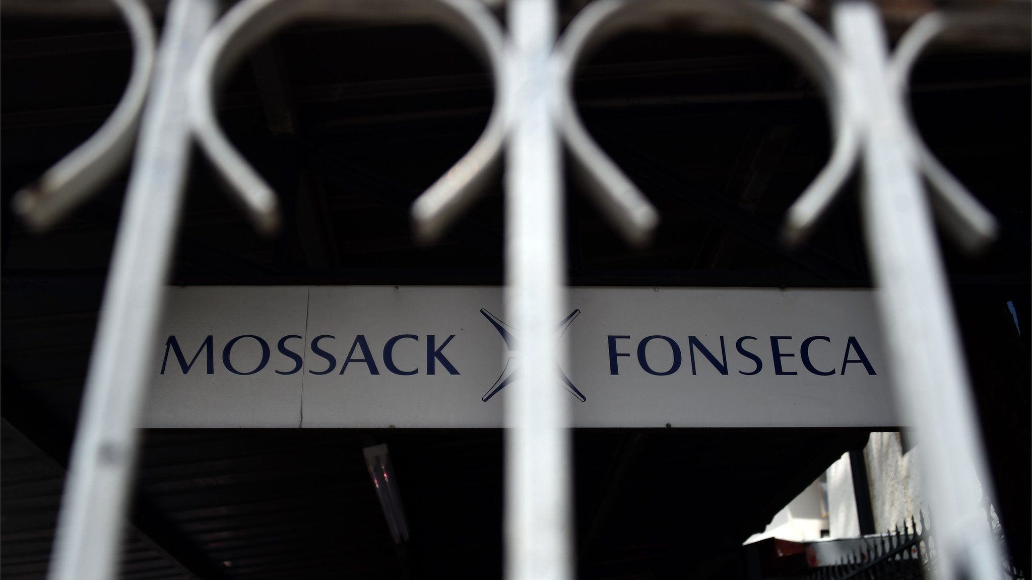 View of a sign outside the building where Panama-based Mossack Fonseca law firm offices are in Panama City (4 April 2016)