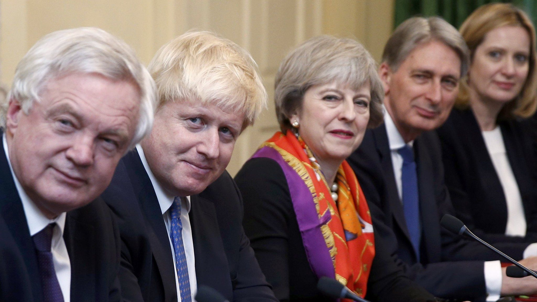 Theresa May and her Cabinet ministers
