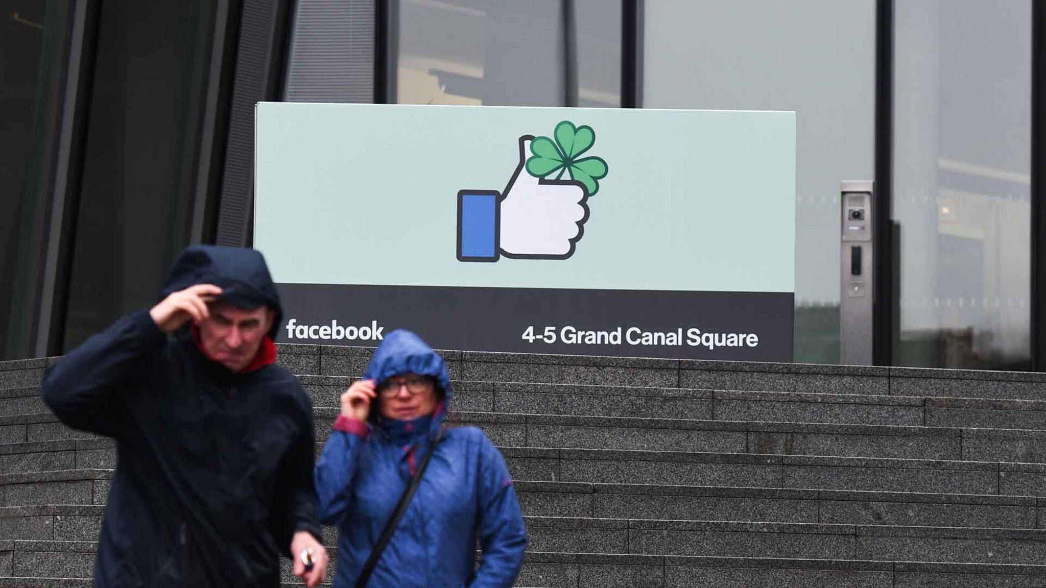 Outside Facebook HQ in Dublin
