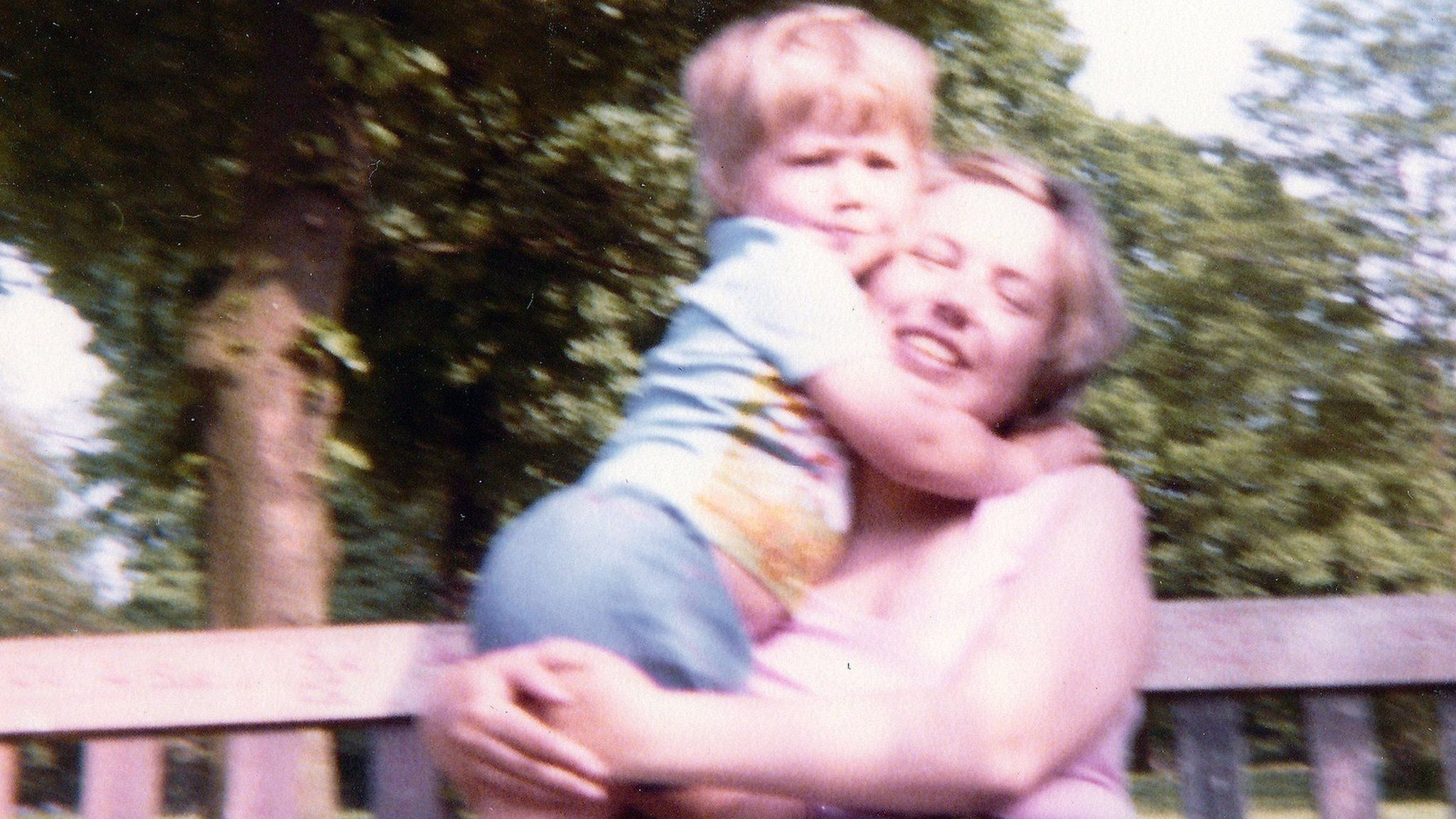 Iain Cunningham (aged two-and-a-half), with his mother, Irene Cunningham