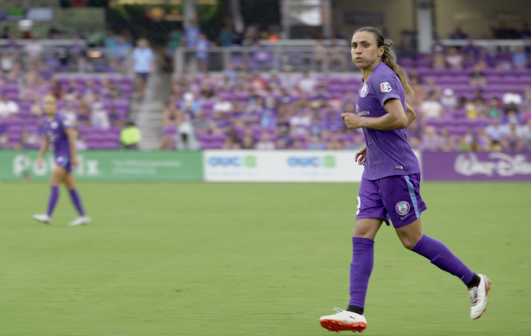 Marta playing for Orlando Pride
