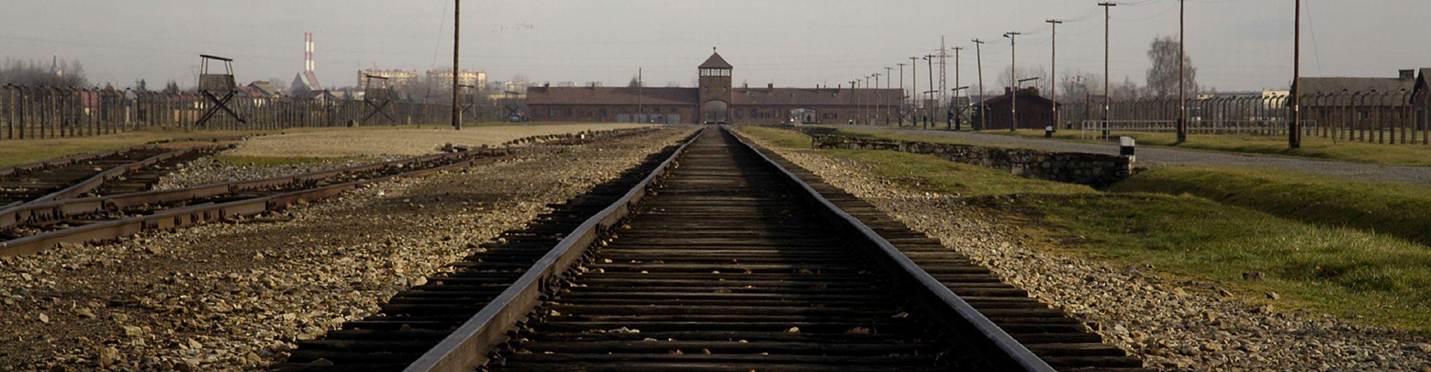 Rail track at Auschwitz - present day