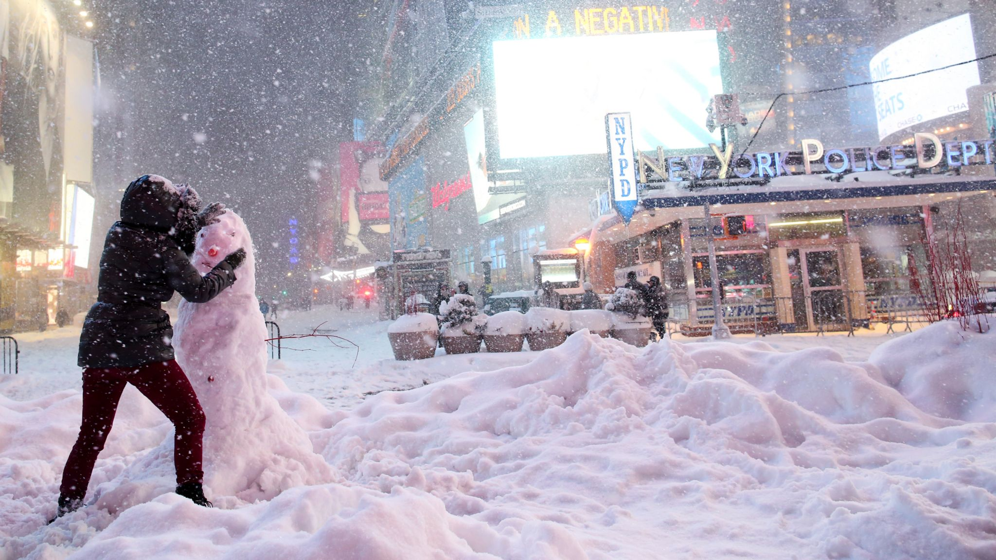 A snow storm in New York