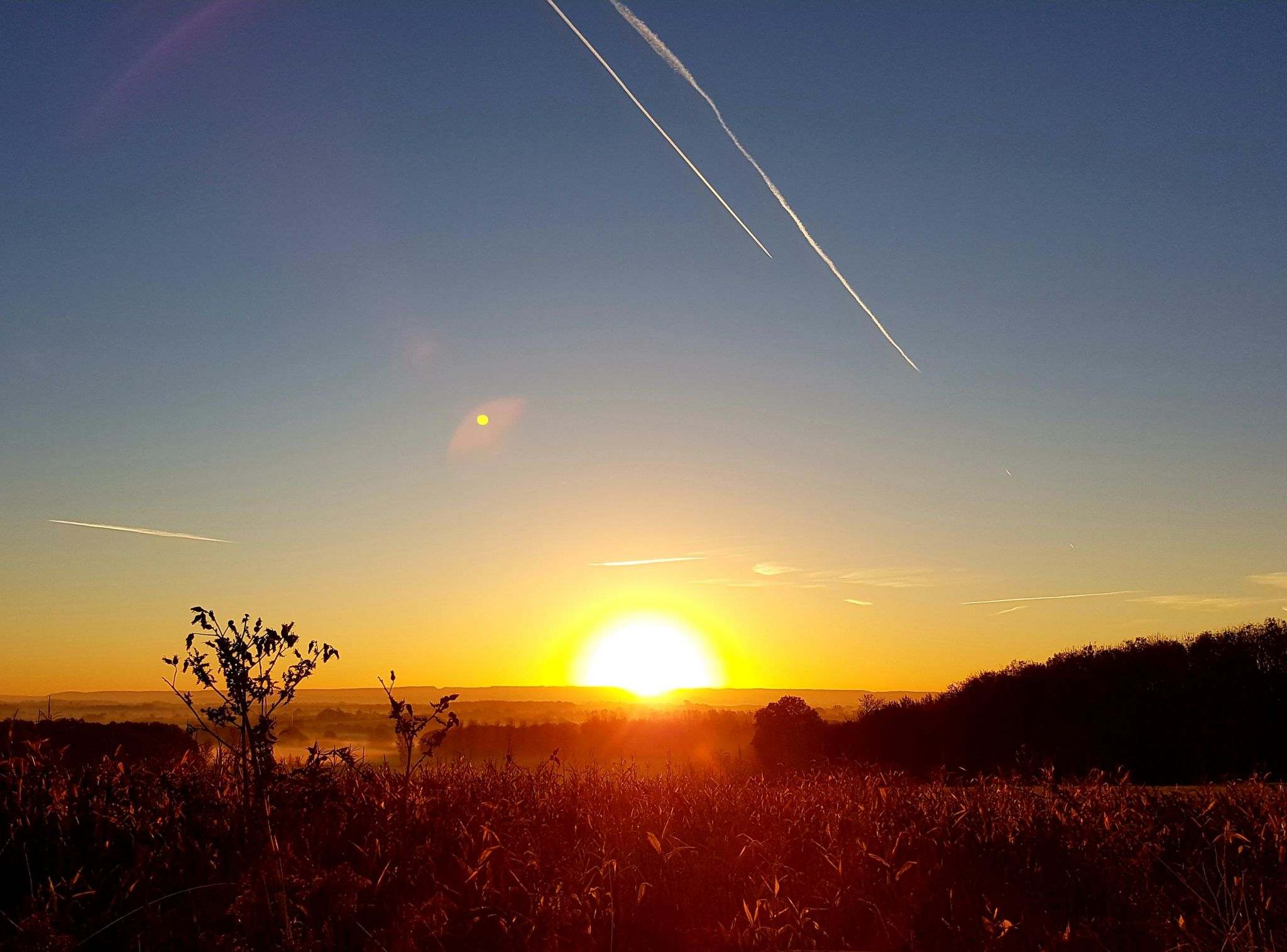 Sunrise over the Chilterns