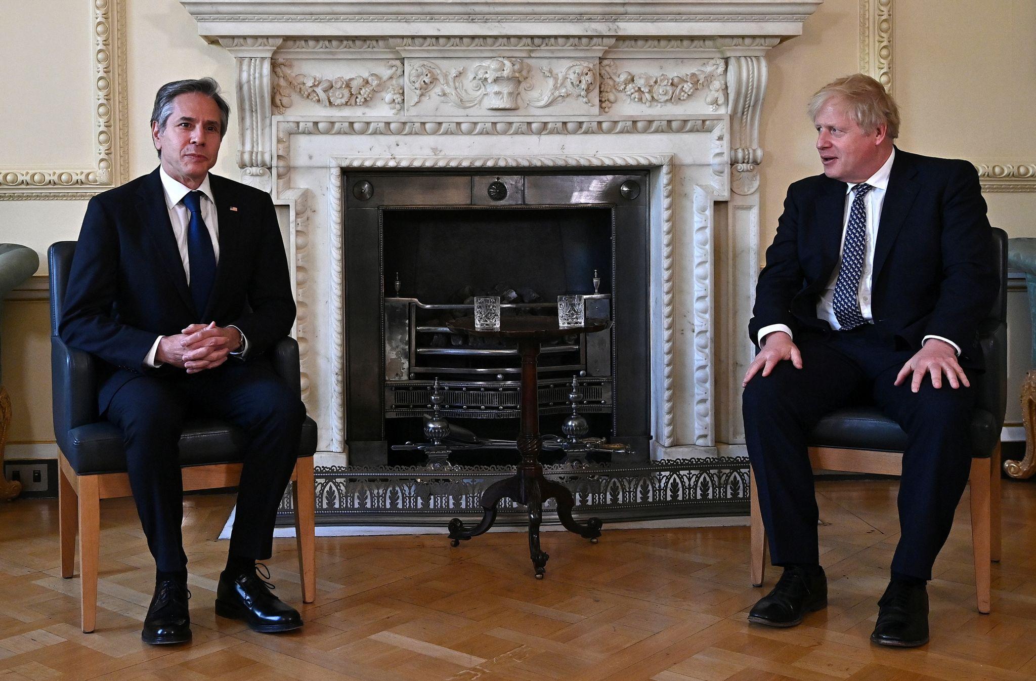 Prime Minister Boris Johnson meets US Secretary of State Antony Blinken