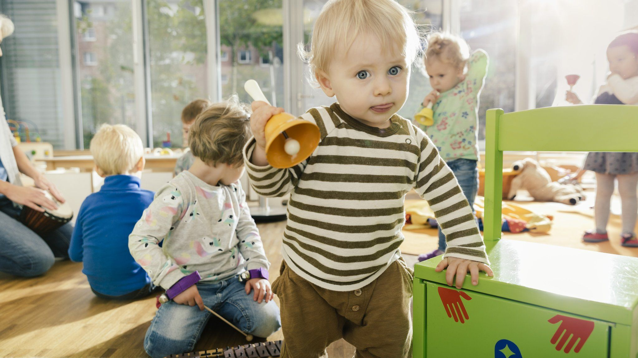 Young boy at a playgroup