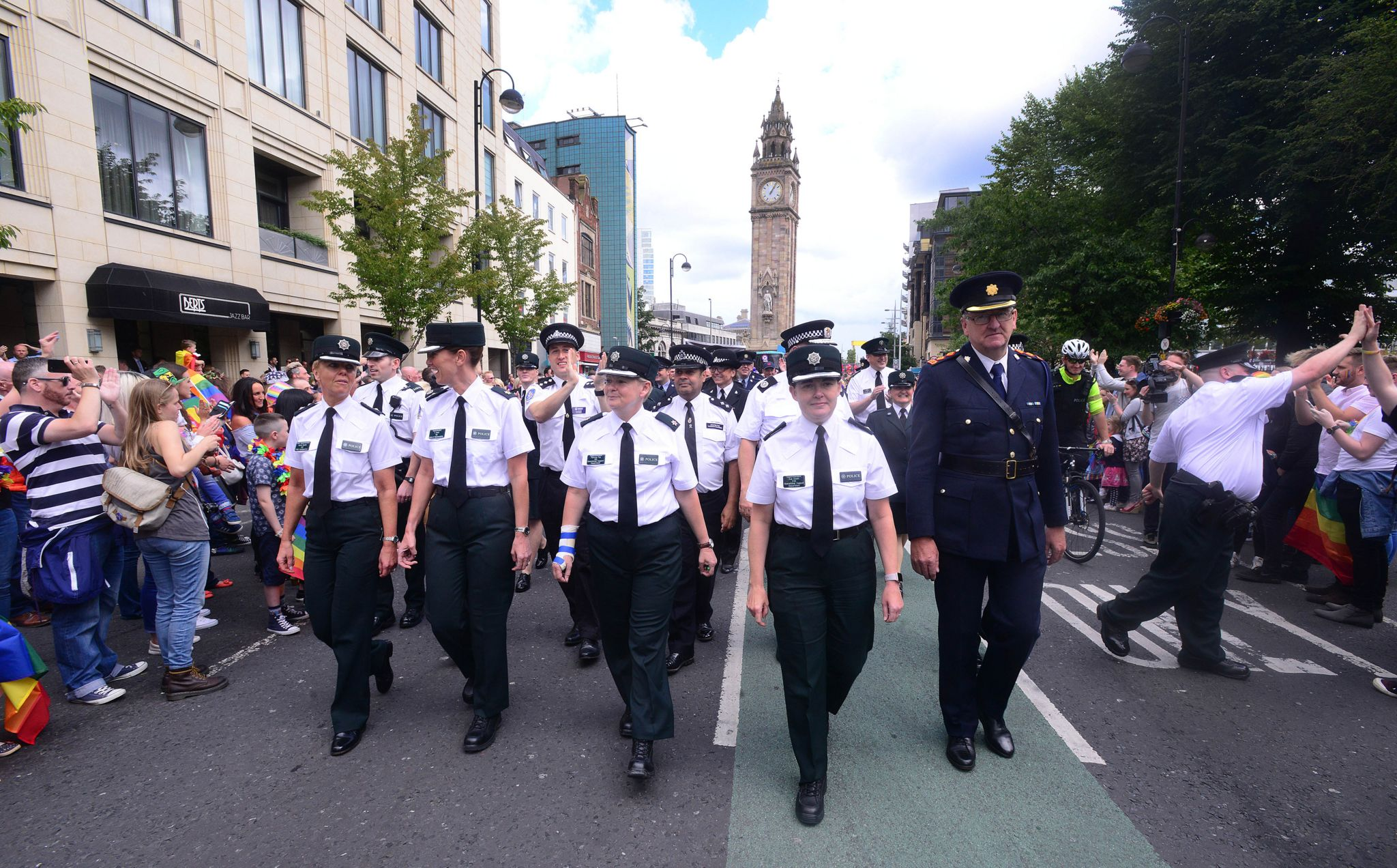 Last year, members of the PSNI and the Garda joined thousands of people in the annual Belfast Pride event