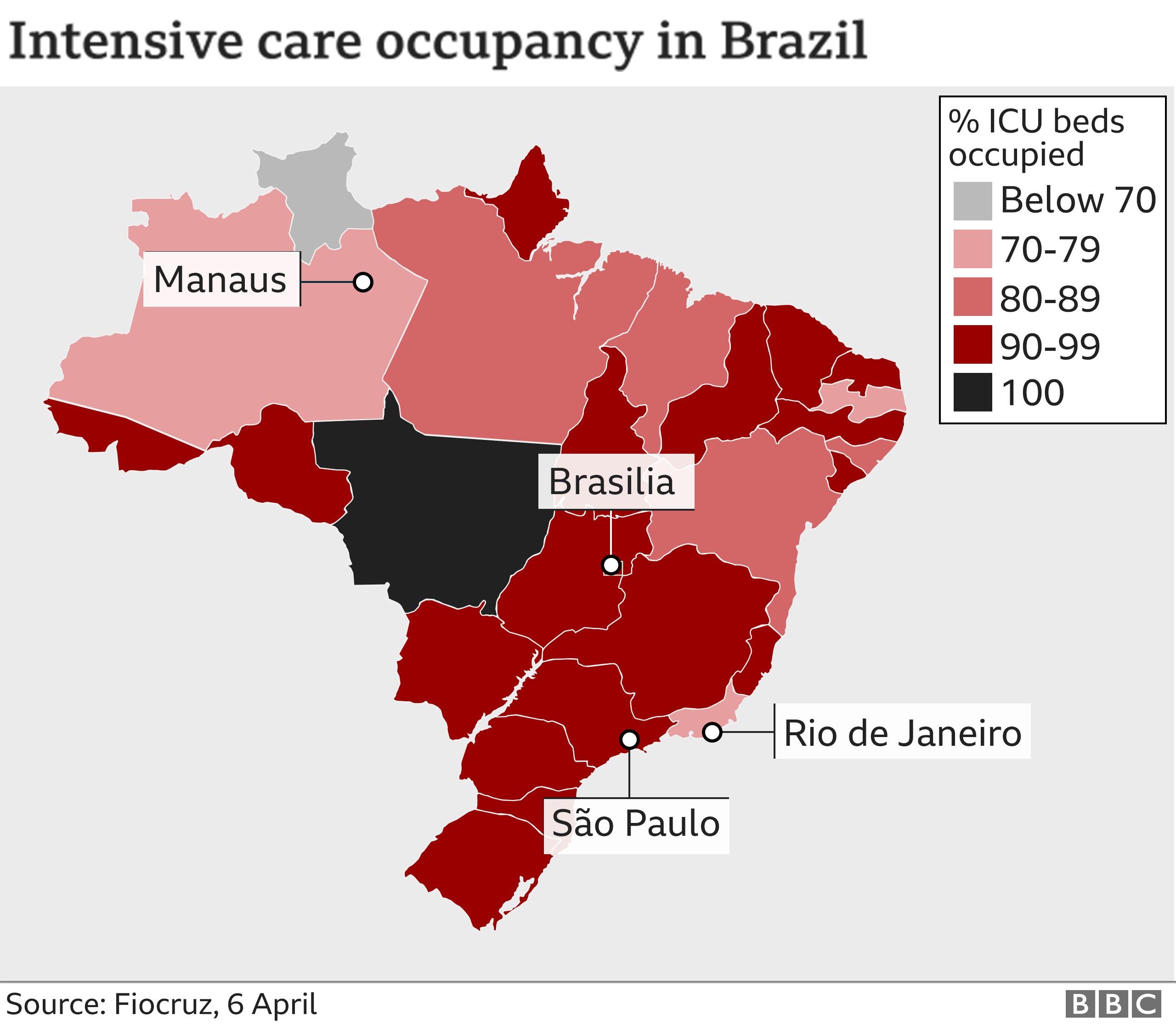 ICU capacity in Brazil