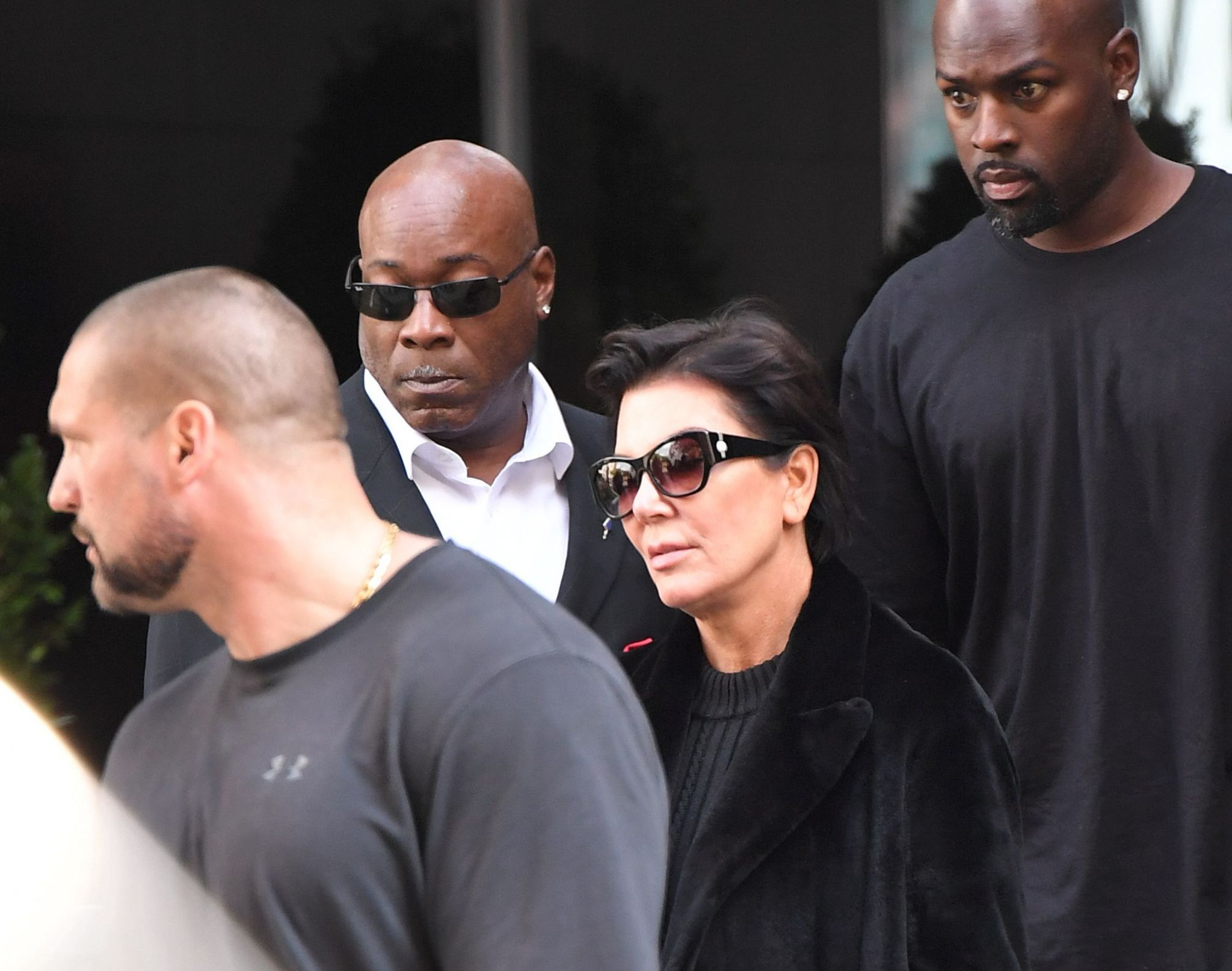 Kris Jenner after arriving in New York on Monday afternoon