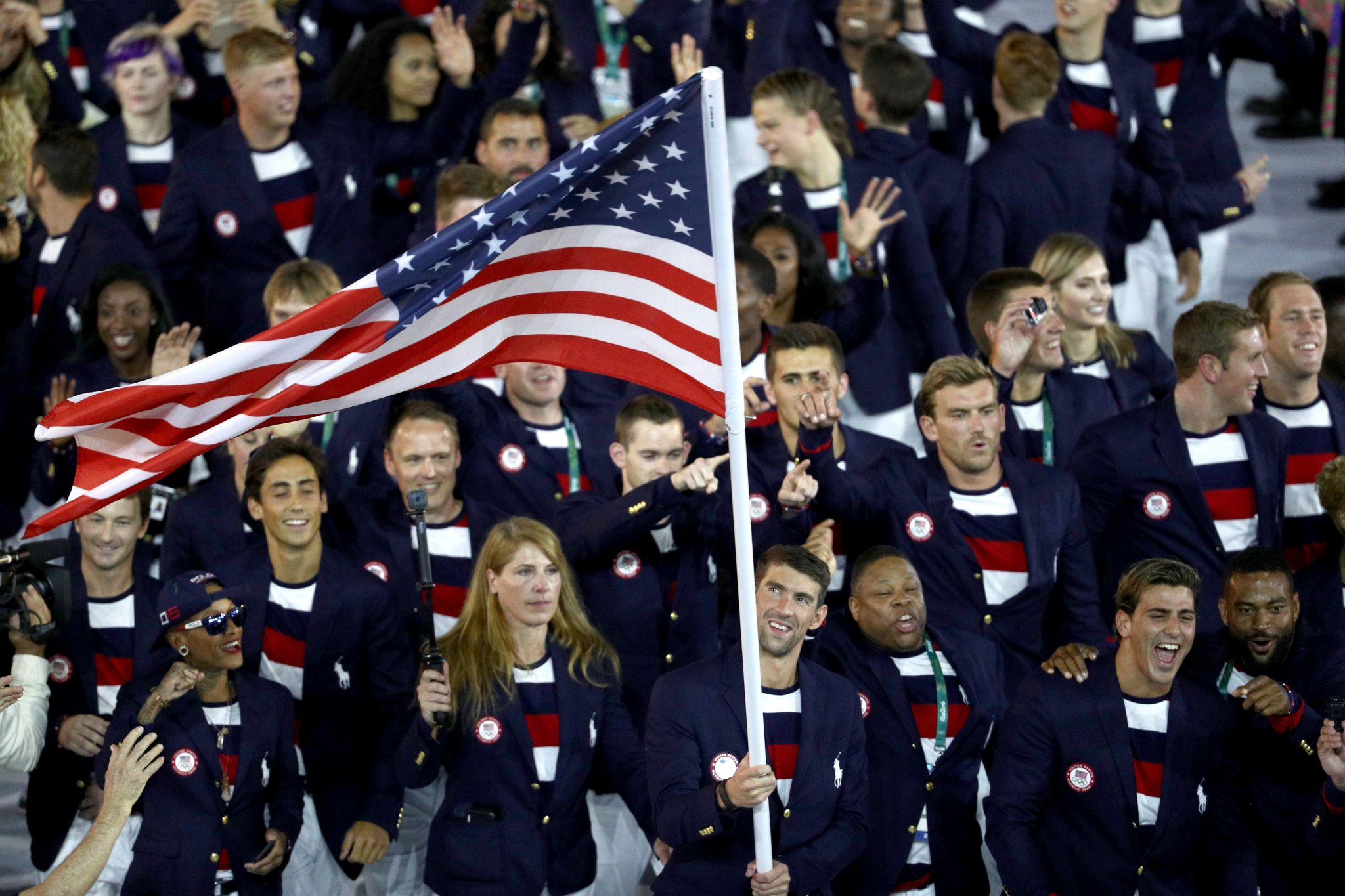 US Olympic team at the Rio opening ceremonies